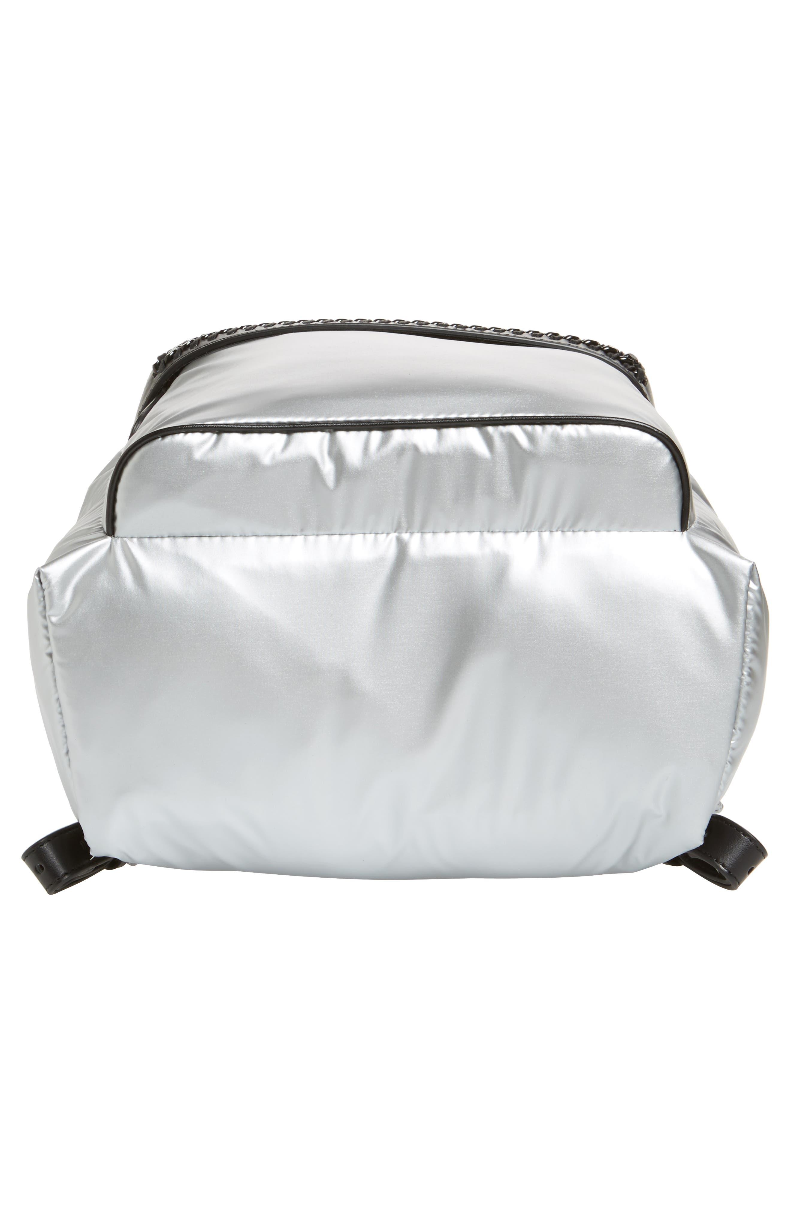 Alternate Image 6  - Stella McCartney Falabella Metallic Nylon Backpack