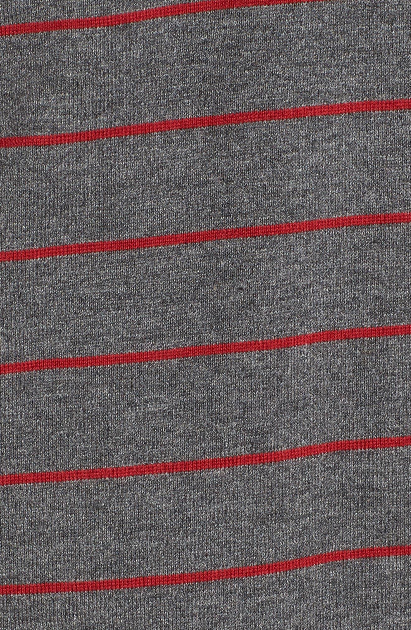 Stripe Polo,                             Alternate thumbnail 5, color,                             Grey/ Red