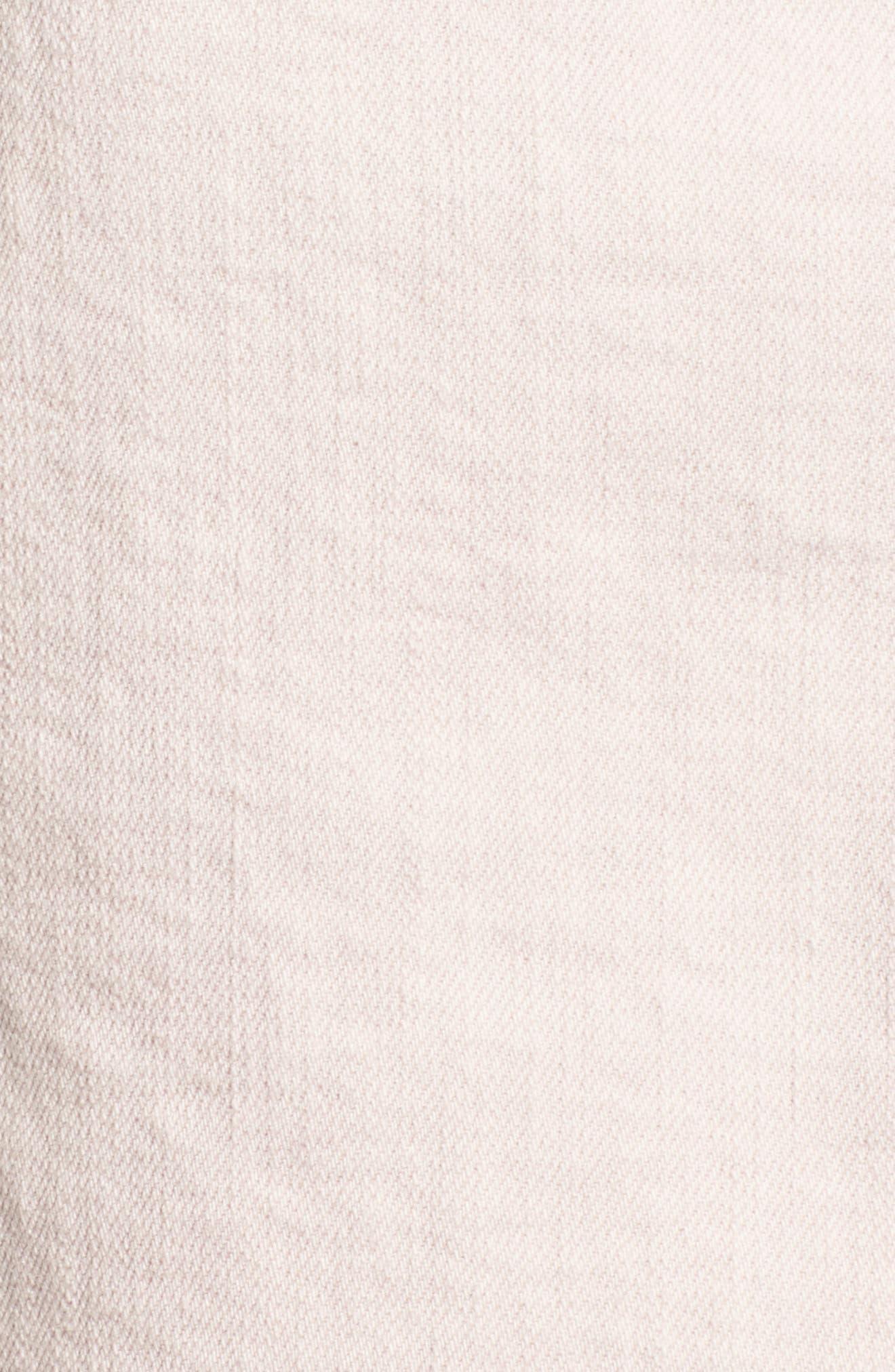 The Vagabond Cutoff Denim Miniskirt,                             Alternate thumbnail 5, color,                             Soft Pink