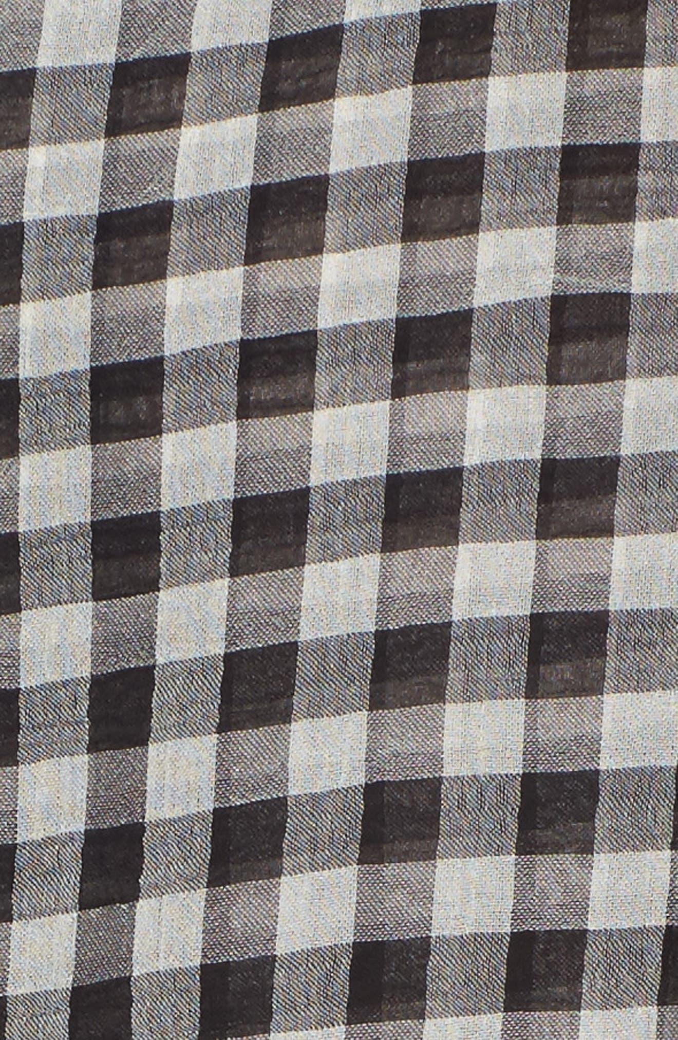 Alternate Image 5  - Ten Sixty Sherman Gingham Cold Shoulder Top