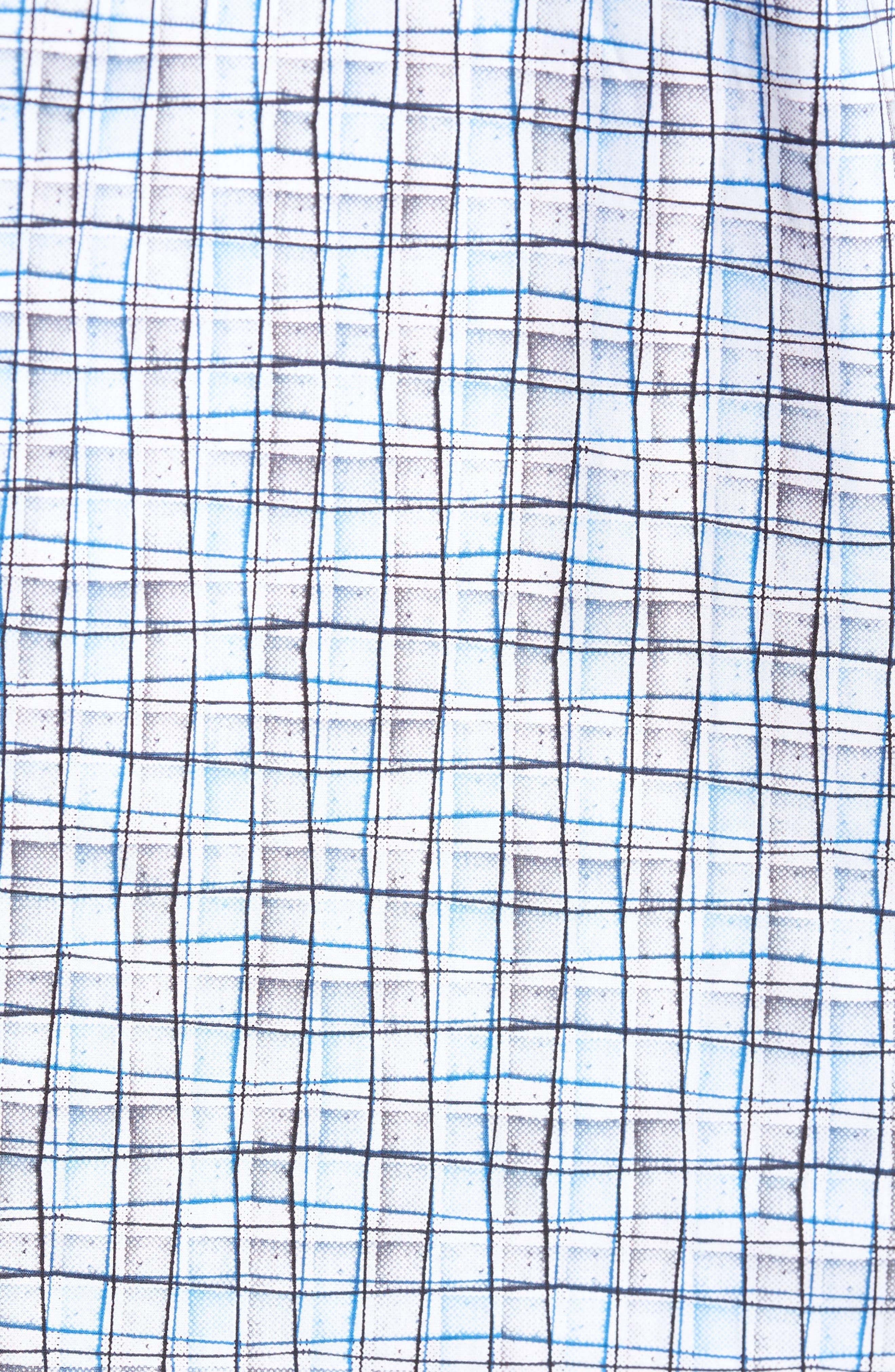 Regular Fit Grid Sport Shirt,                             Alternate thumbnail 5, color,                             Platinum