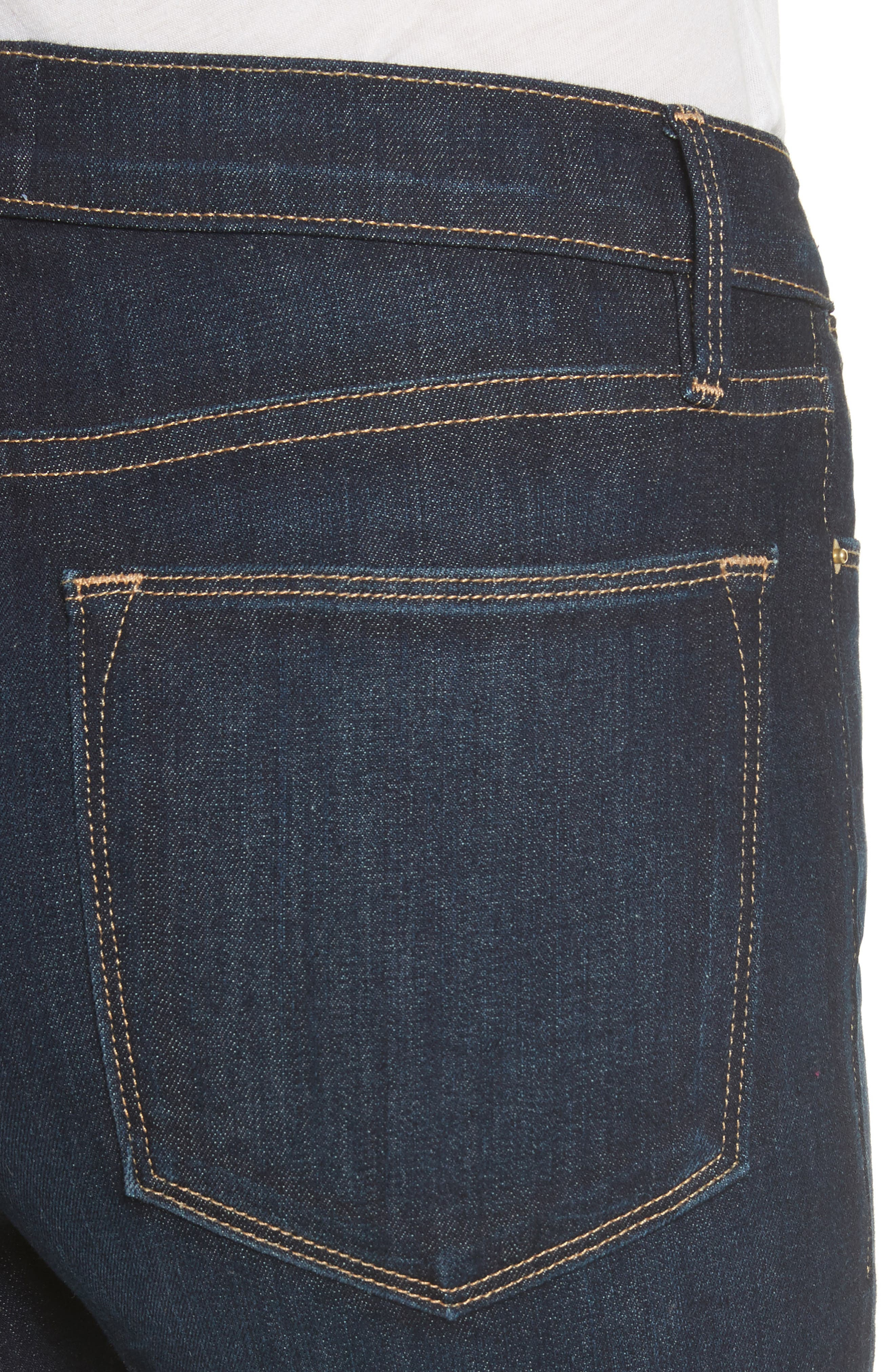 Le High Ankle Skinny Jeans,                             Alternate thumbnail 4, color,                             Dame