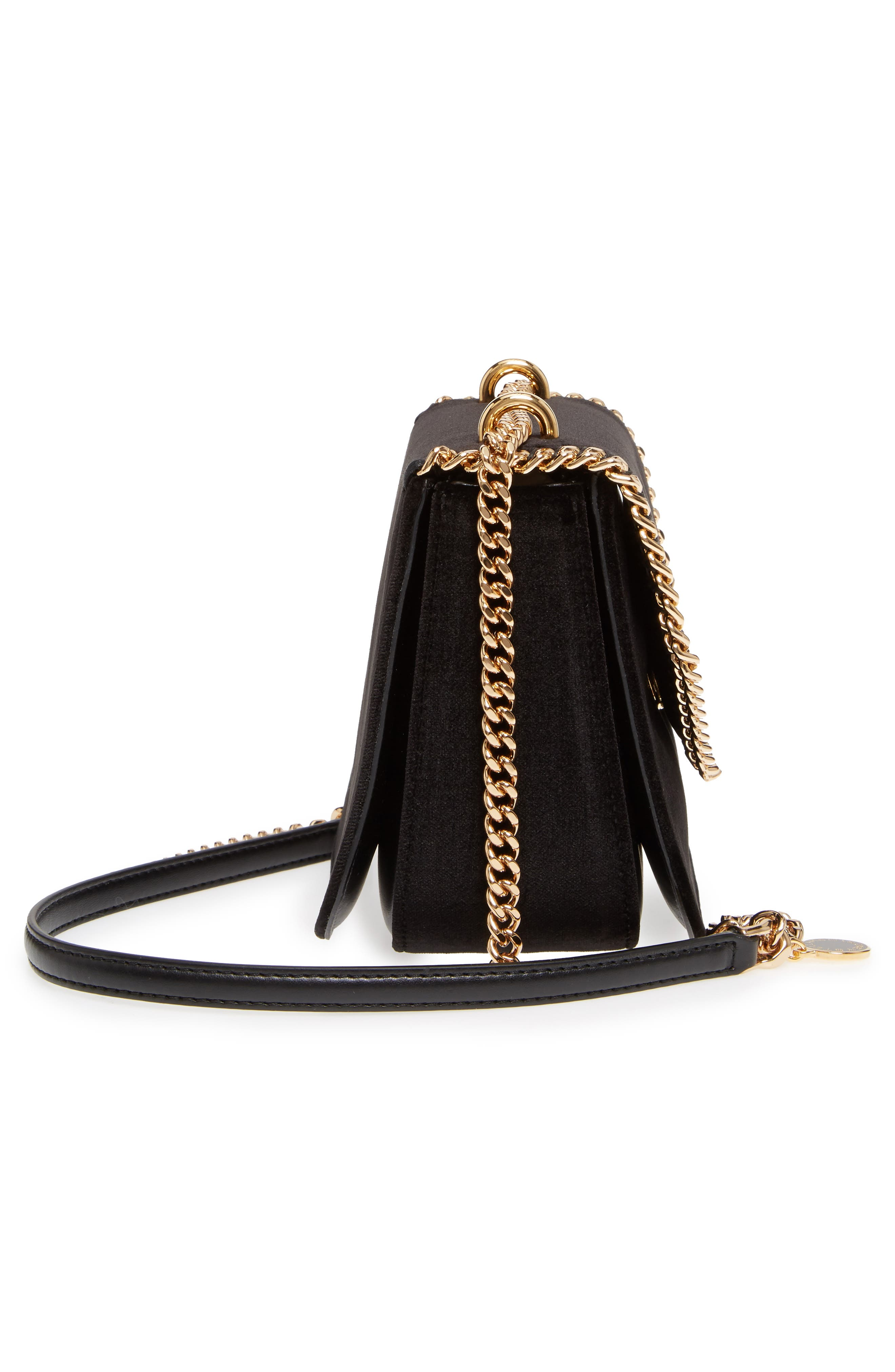Alternate Image 4  - Stella McCartney Mini Falabella Box Velvet Shoulder Bag
