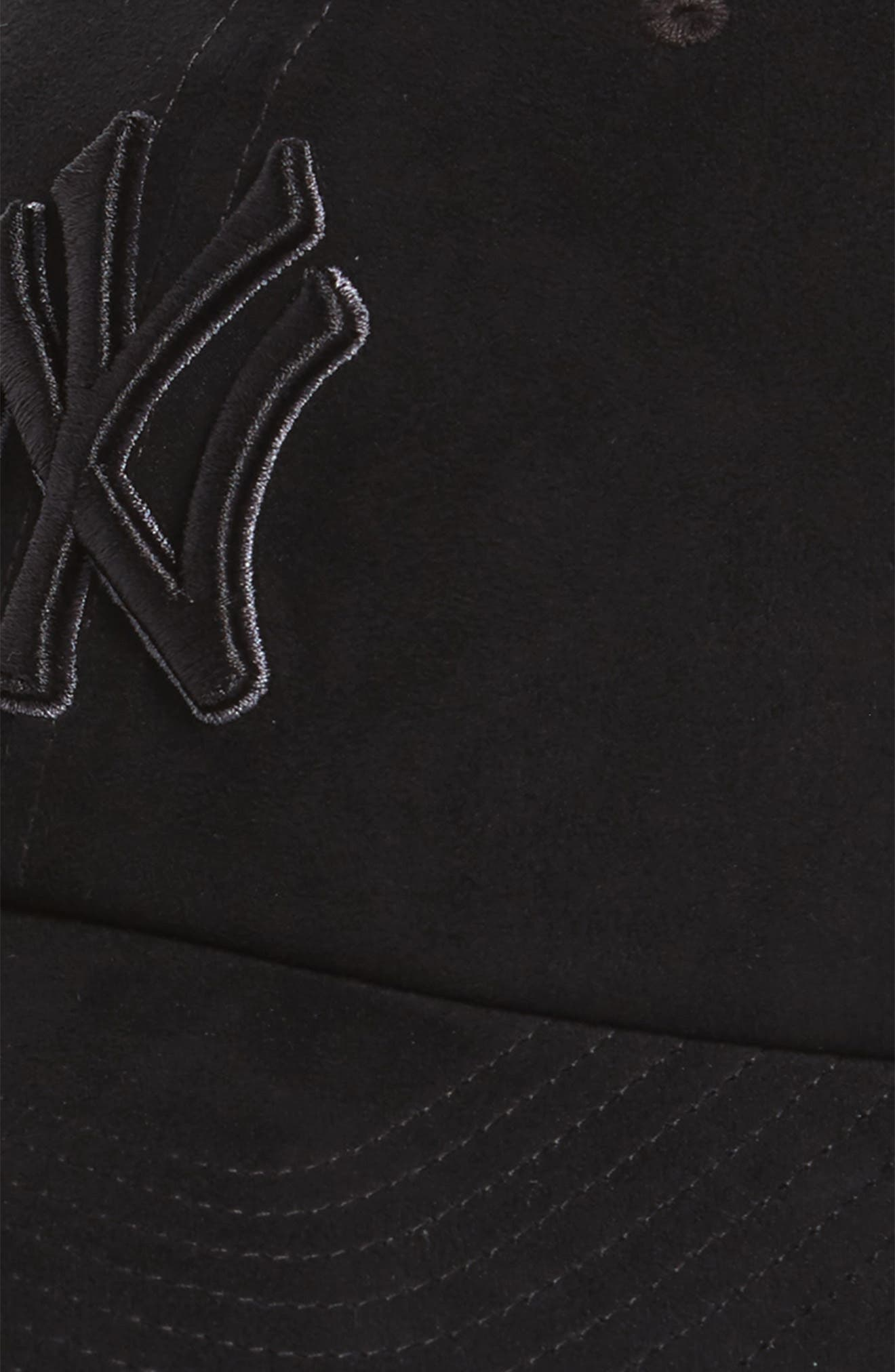 Ultrabasic Clean Up New York Yankees Baseball Cap,                             Alternate thumbnail 3, color,                             Black