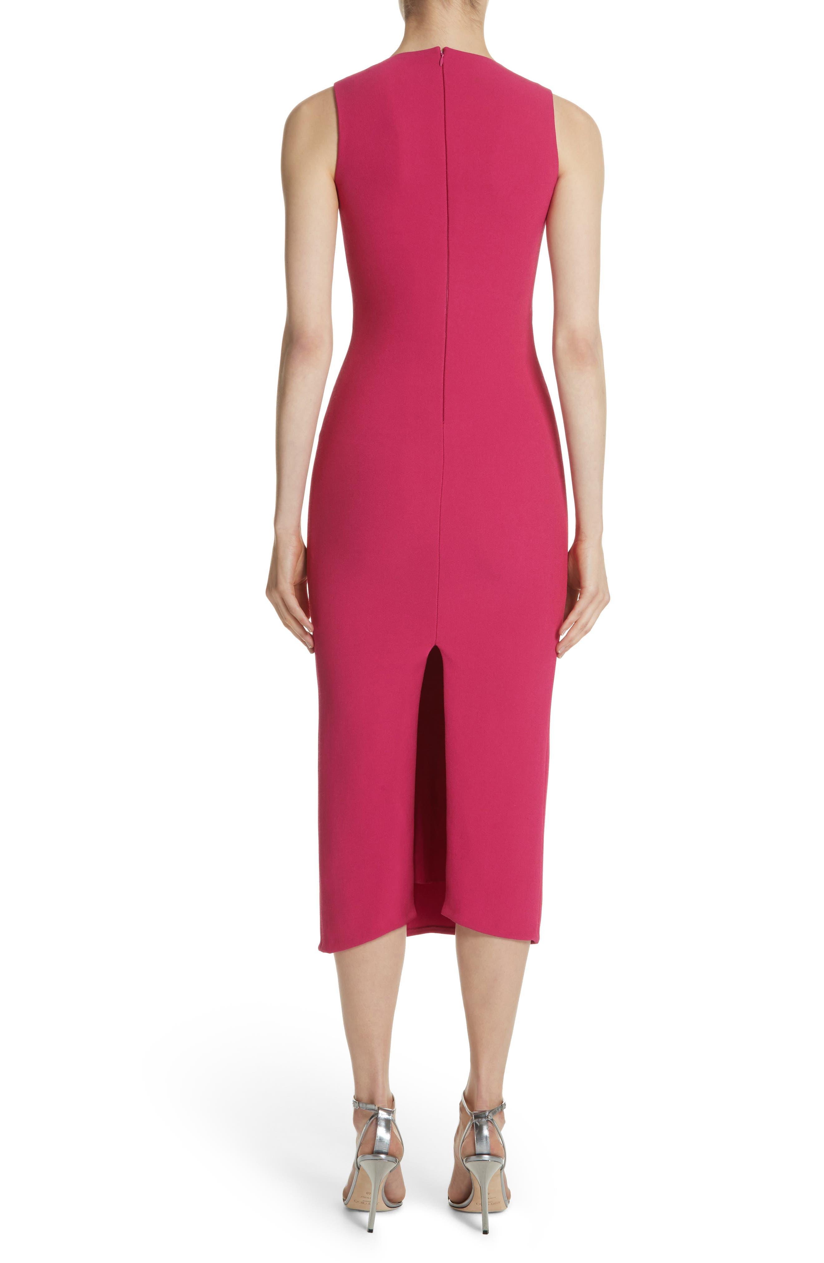 Sheath Midi Dress,                             Alternate thumbnail 2, color,                             Fuchsia