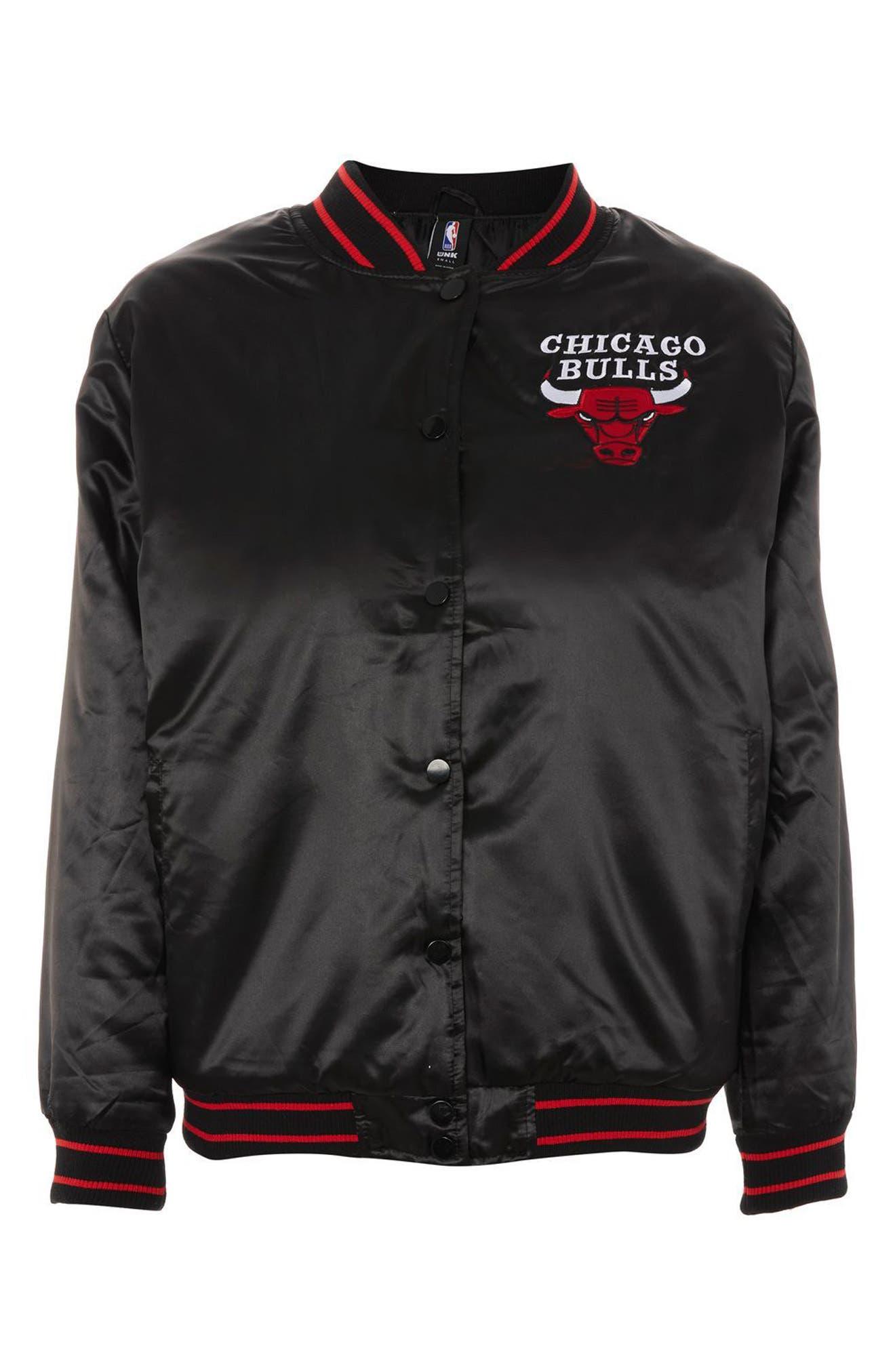 x UNK Chicago Bulls Bomber Jacket,                         Main,                         color, Black Multi