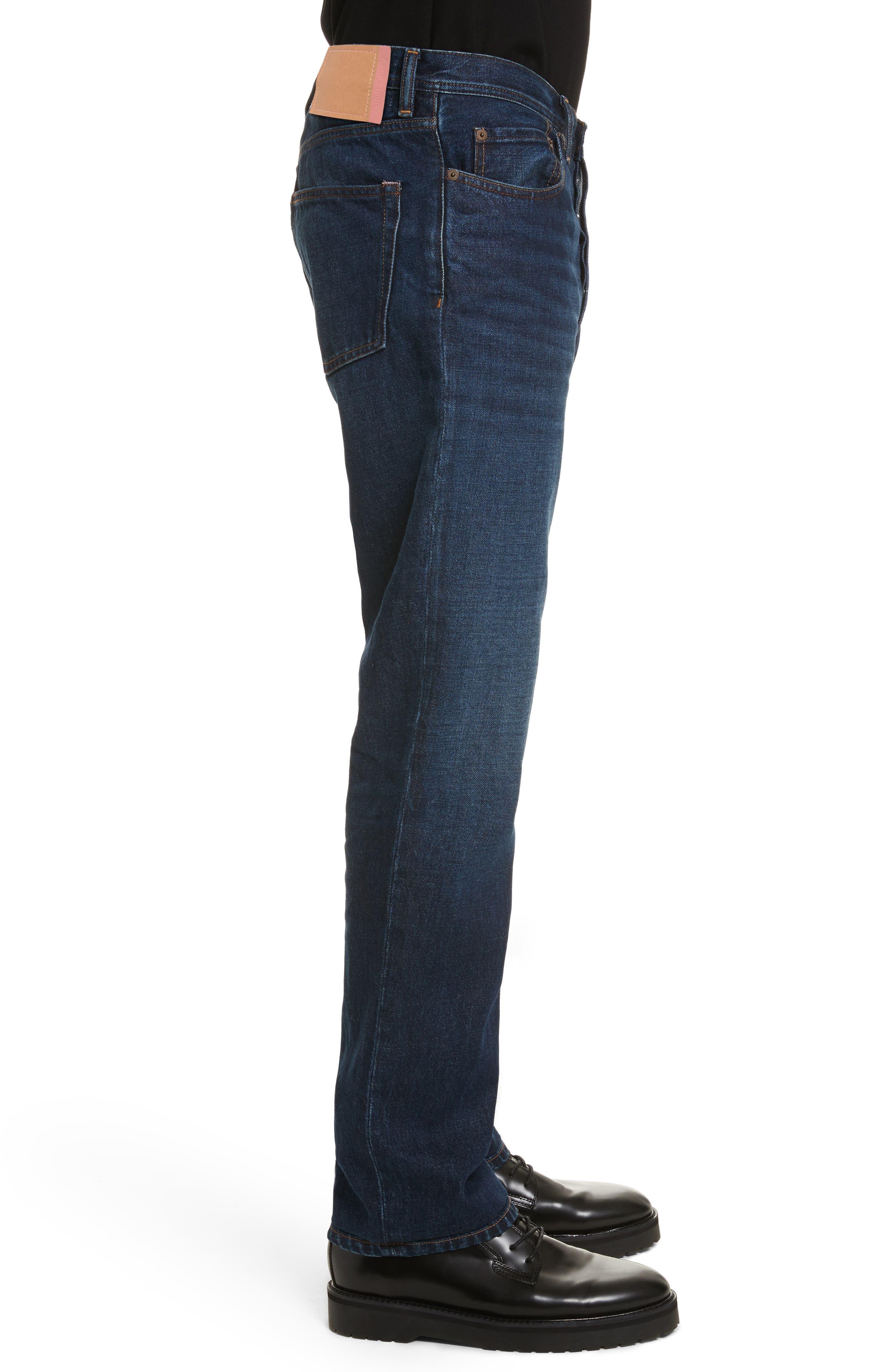 Land Classic Straight Leg Jeans,                             Alternate thumbnail 3, color,                             123 Dk Blue
