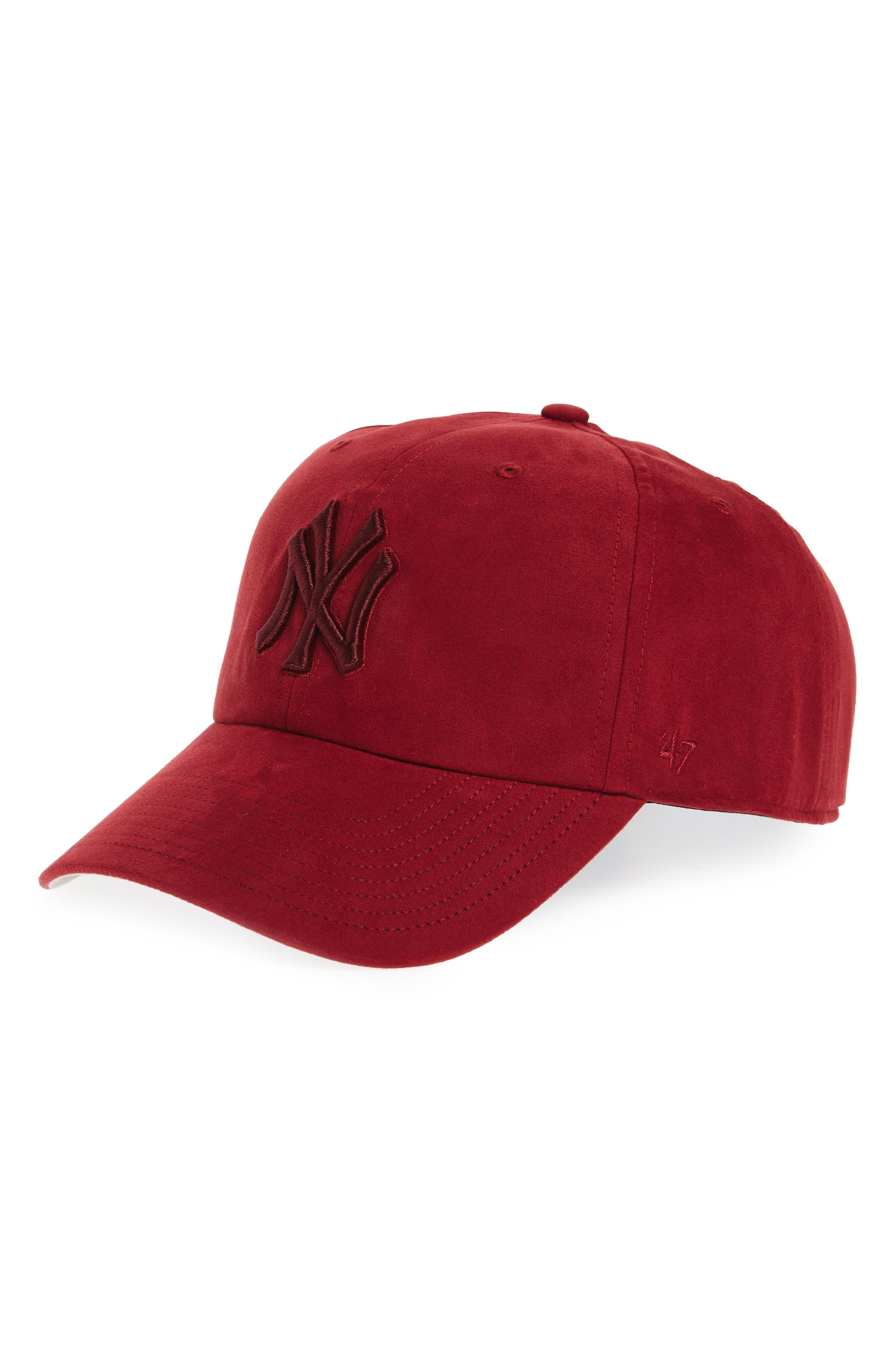 New York Yankees Baseball Cap,                         Main,                         color, Maroon