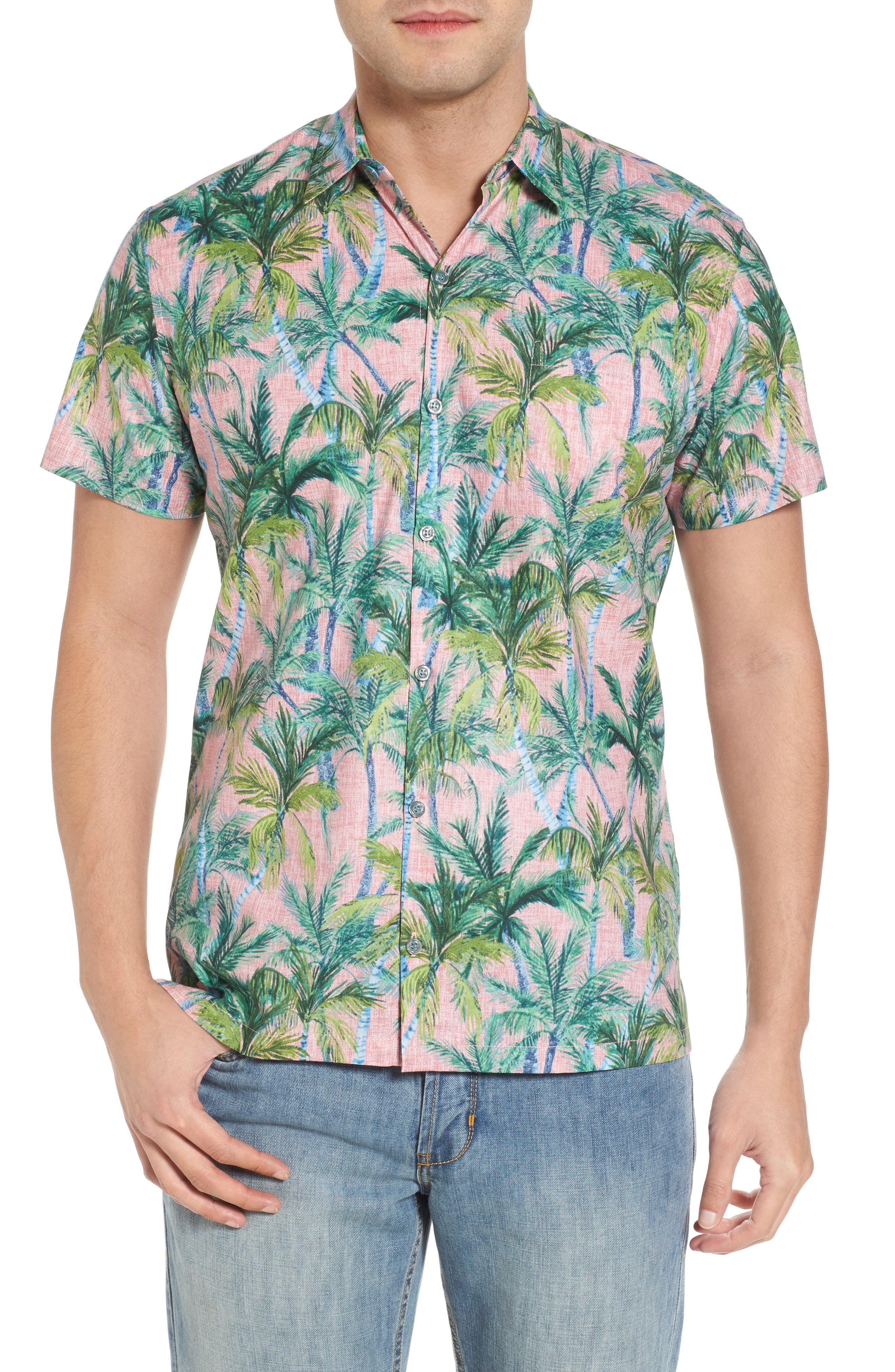 Tori Richard Coco Vida Trim Fit Print Cotton Lawn Sport Shirt