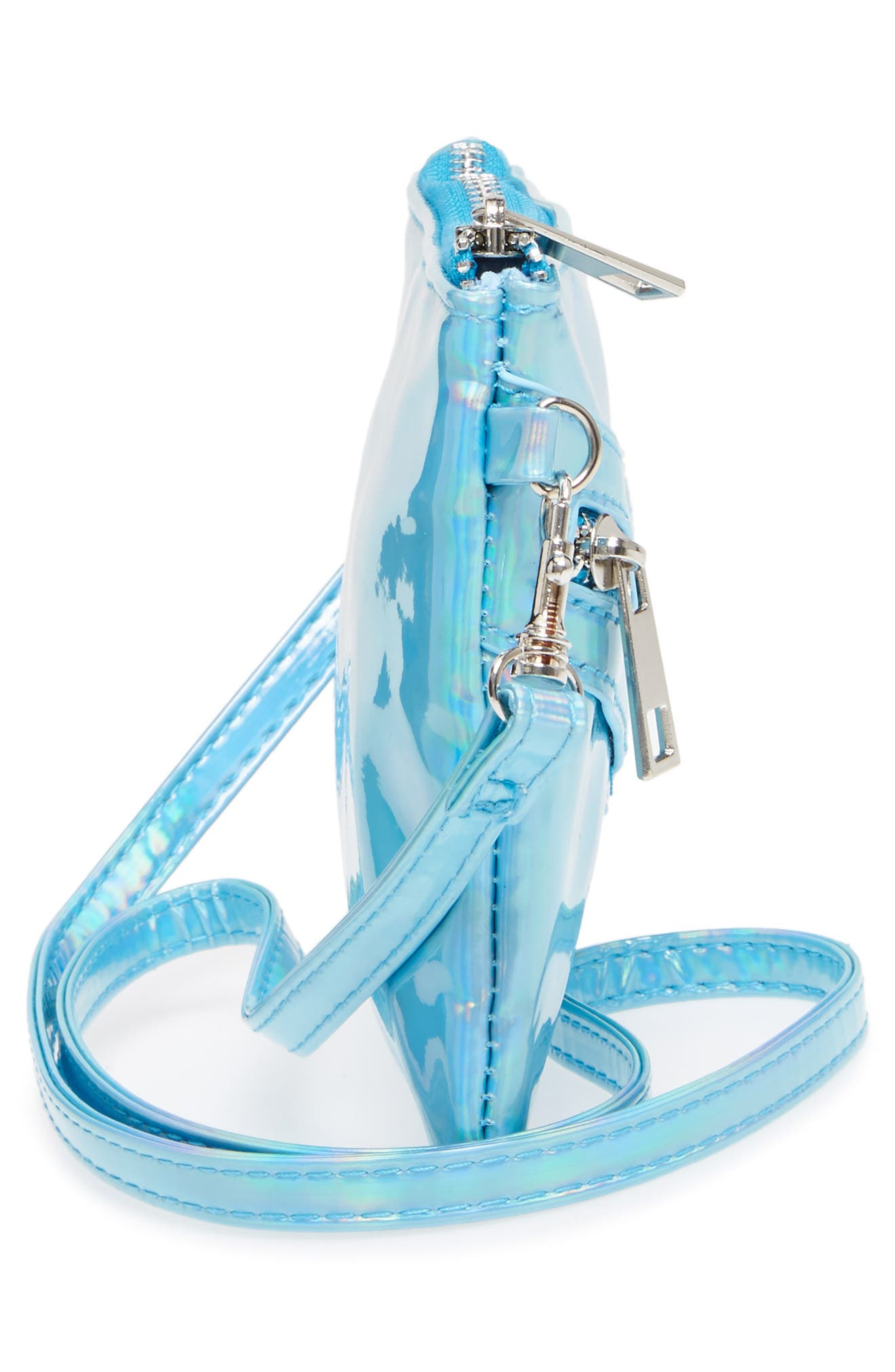 Alternate Image 3  - Capelli of New York Hologram Crossbody Bag (Girls)