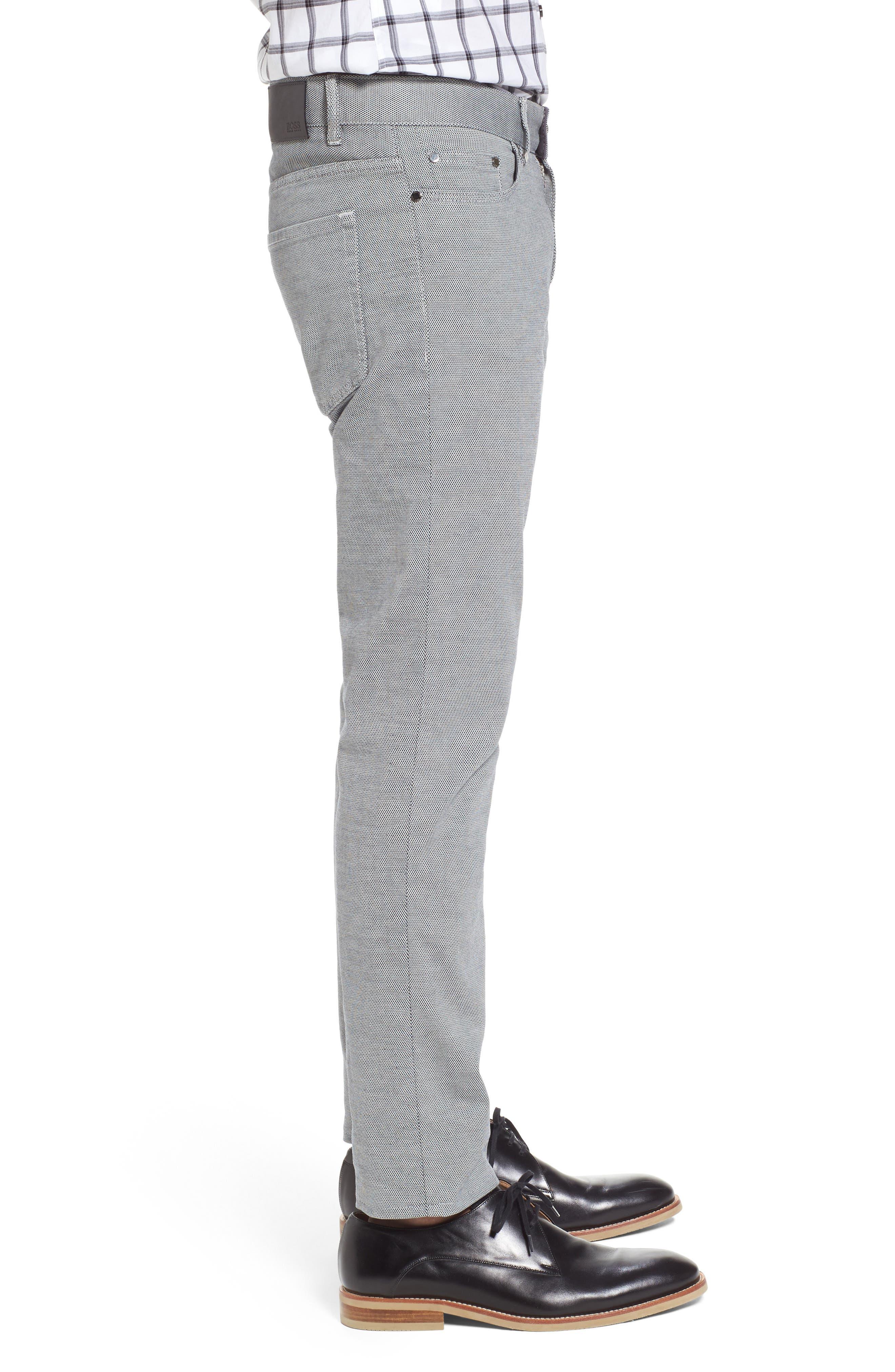 Delaware Slim Fit Structure Jeans,                             Alternate thumbnail 4, color,                             Grey