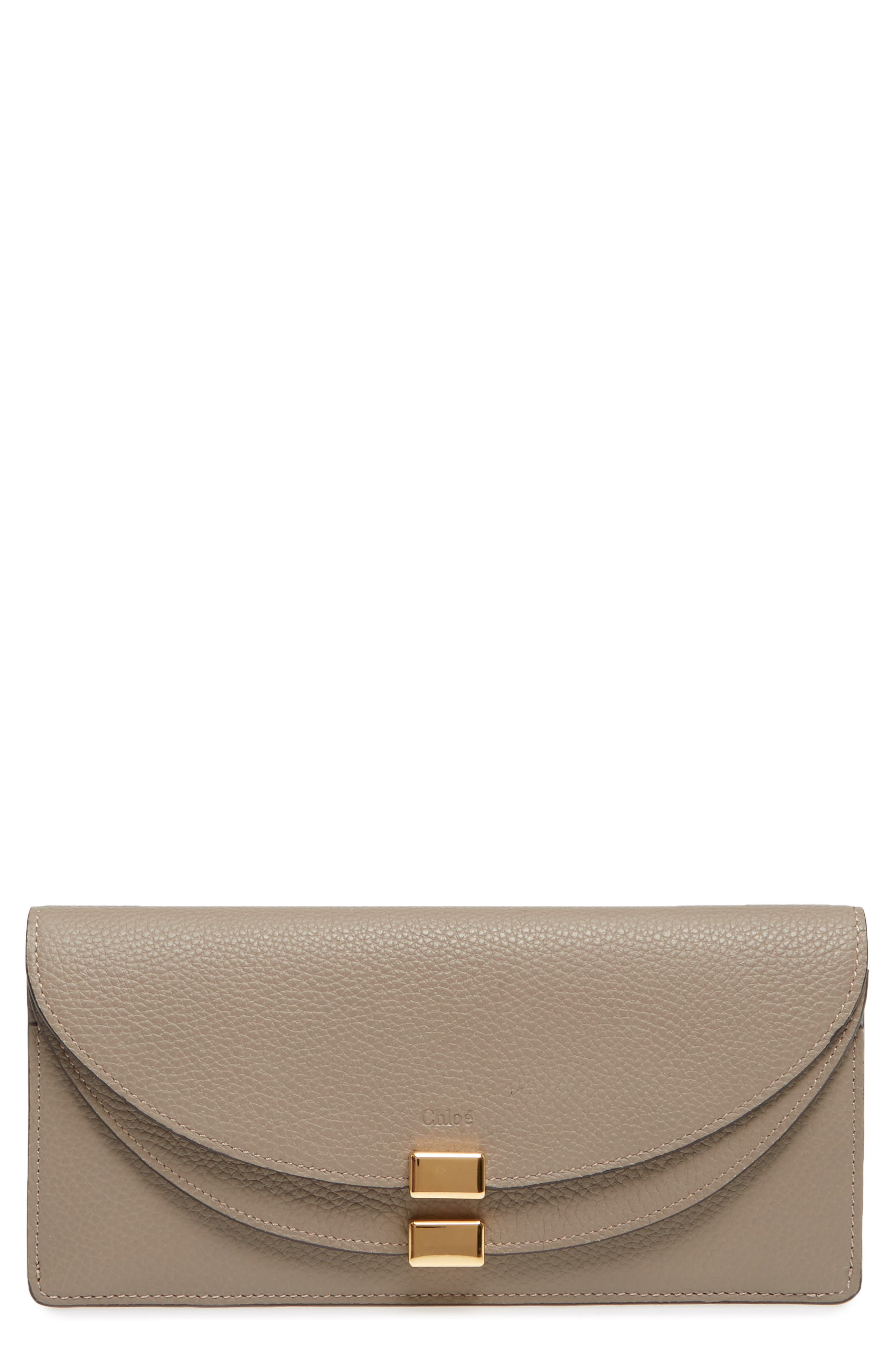 Alternate Image 1 Selected - Chloé Georgia Continental Leather Wallet