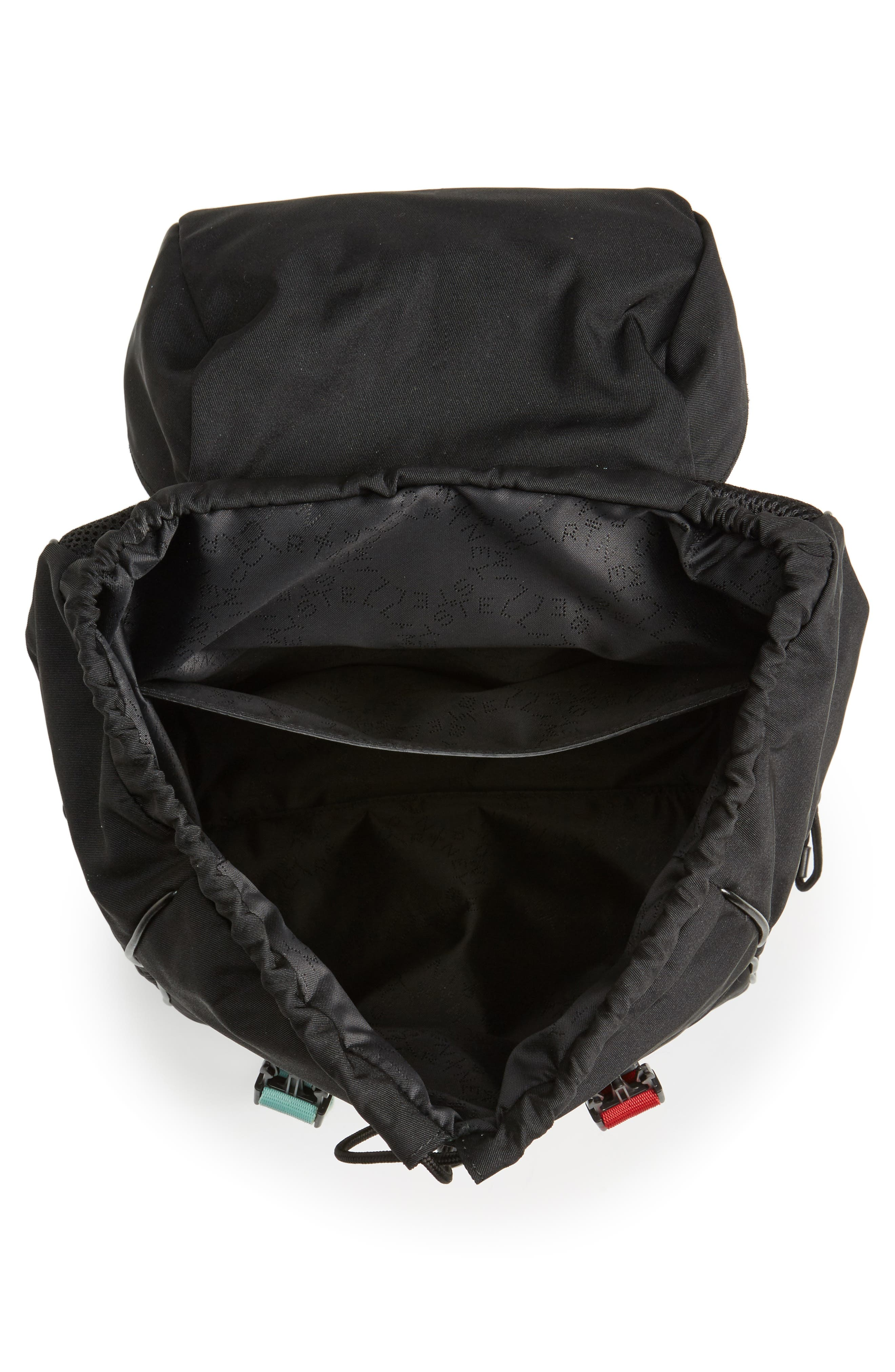 Small Eco Nylon Backpack,                             Alternate thumbnail 5, color,                             Black Multi