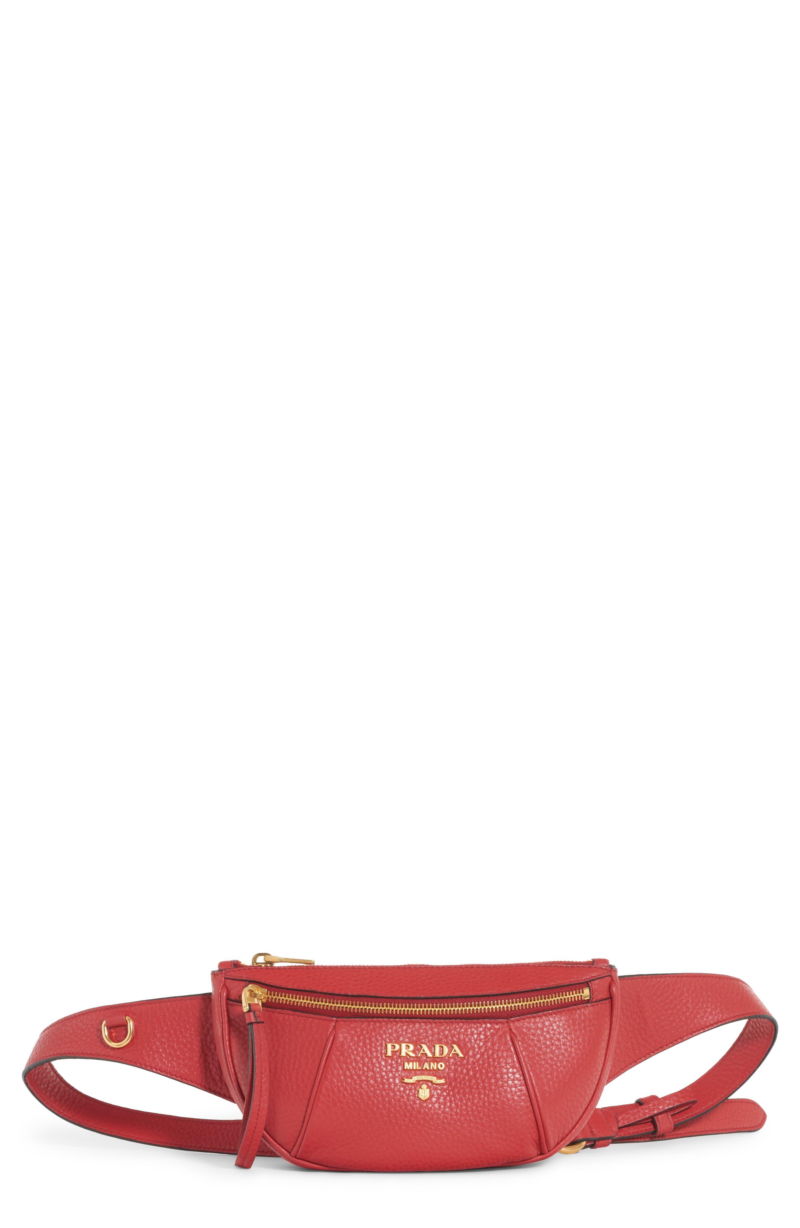 Prada Daino Leather Belt Bag