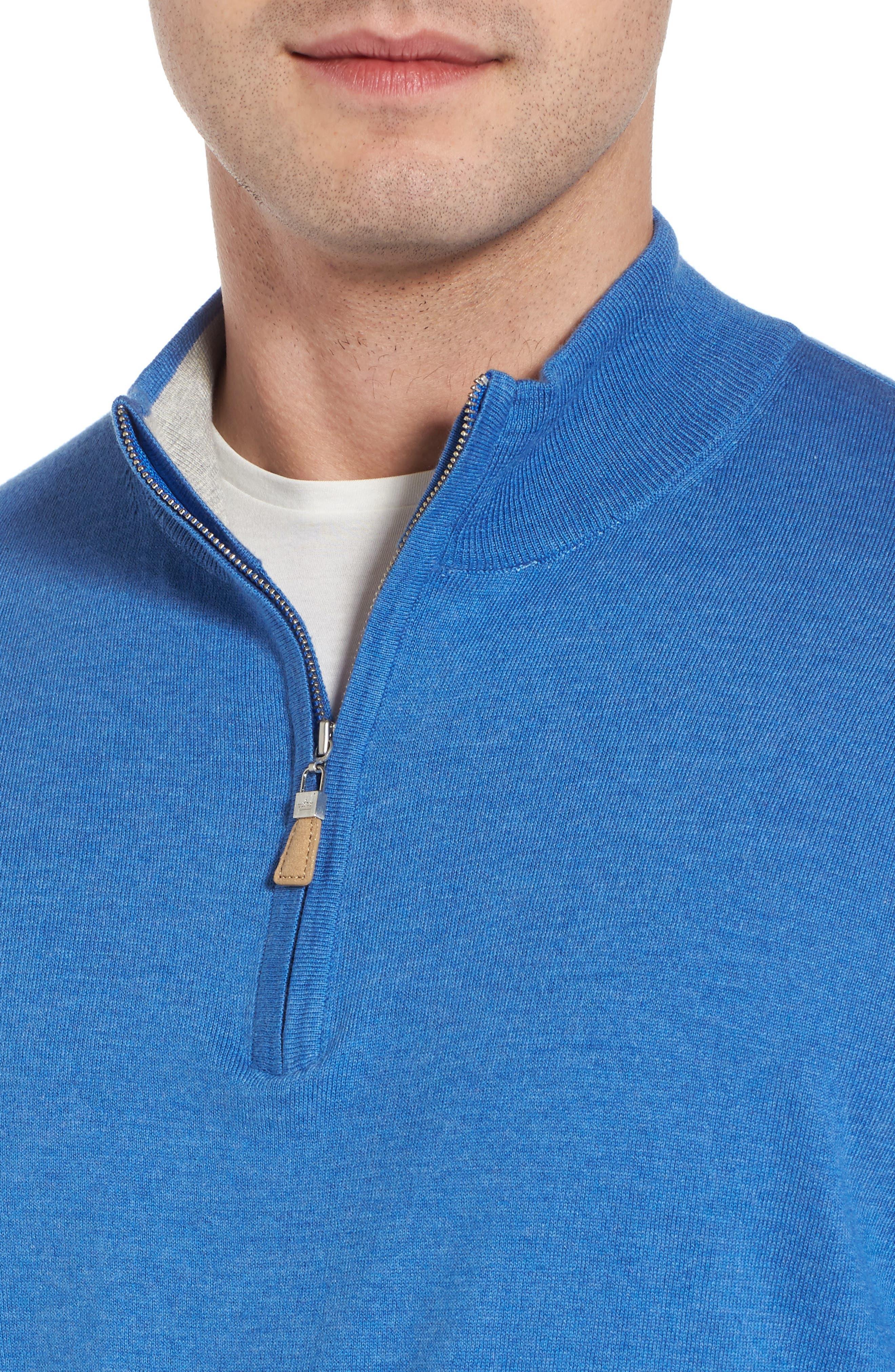Crown Soft Quarter-Zip Pullover,                             Alternate thumbnail 4, color,                             Boardwalk Blue
