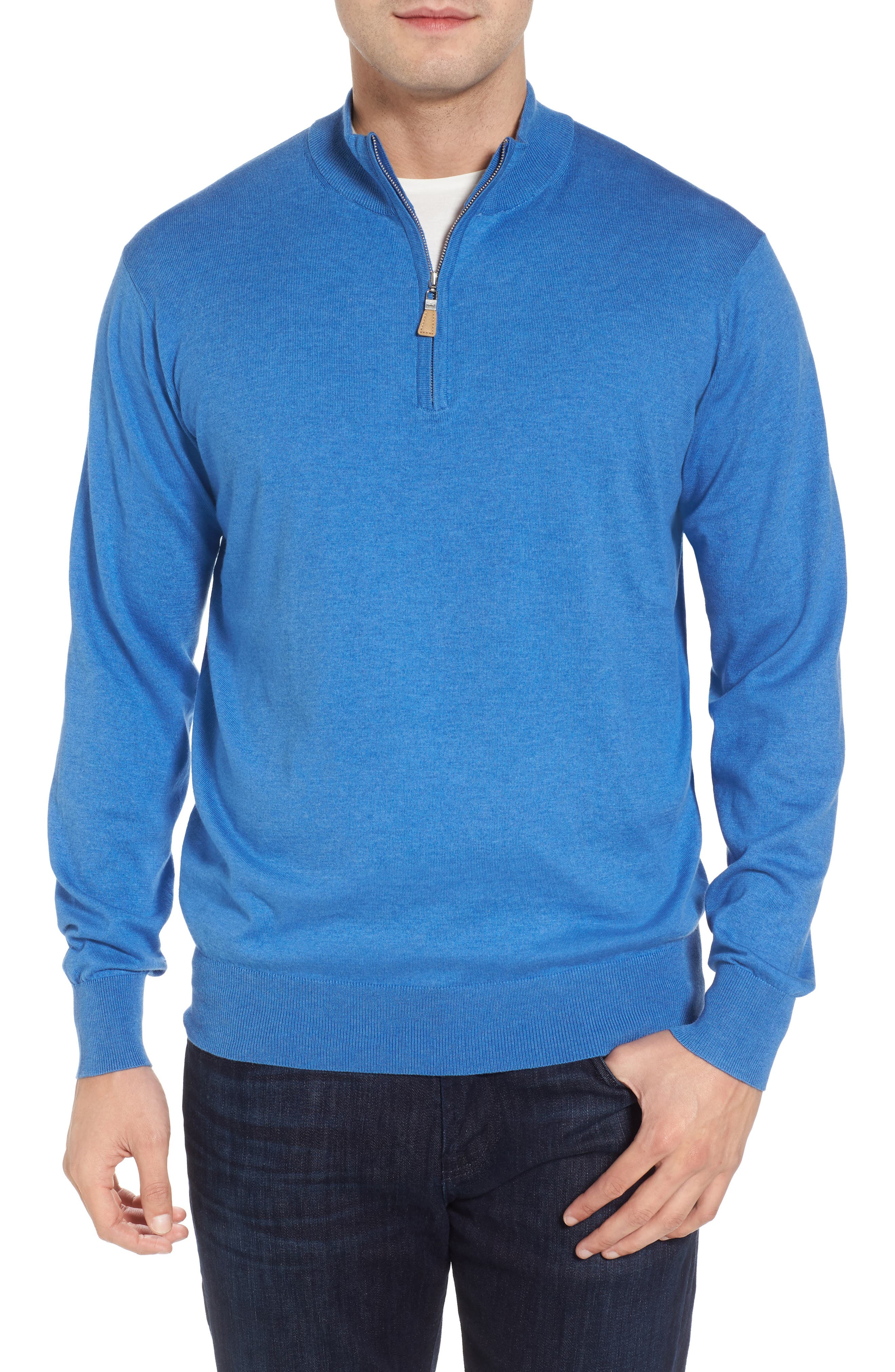Crown Soft Quarter-Zip Pullover,                         Main,                         color, Boardwalk Blue
