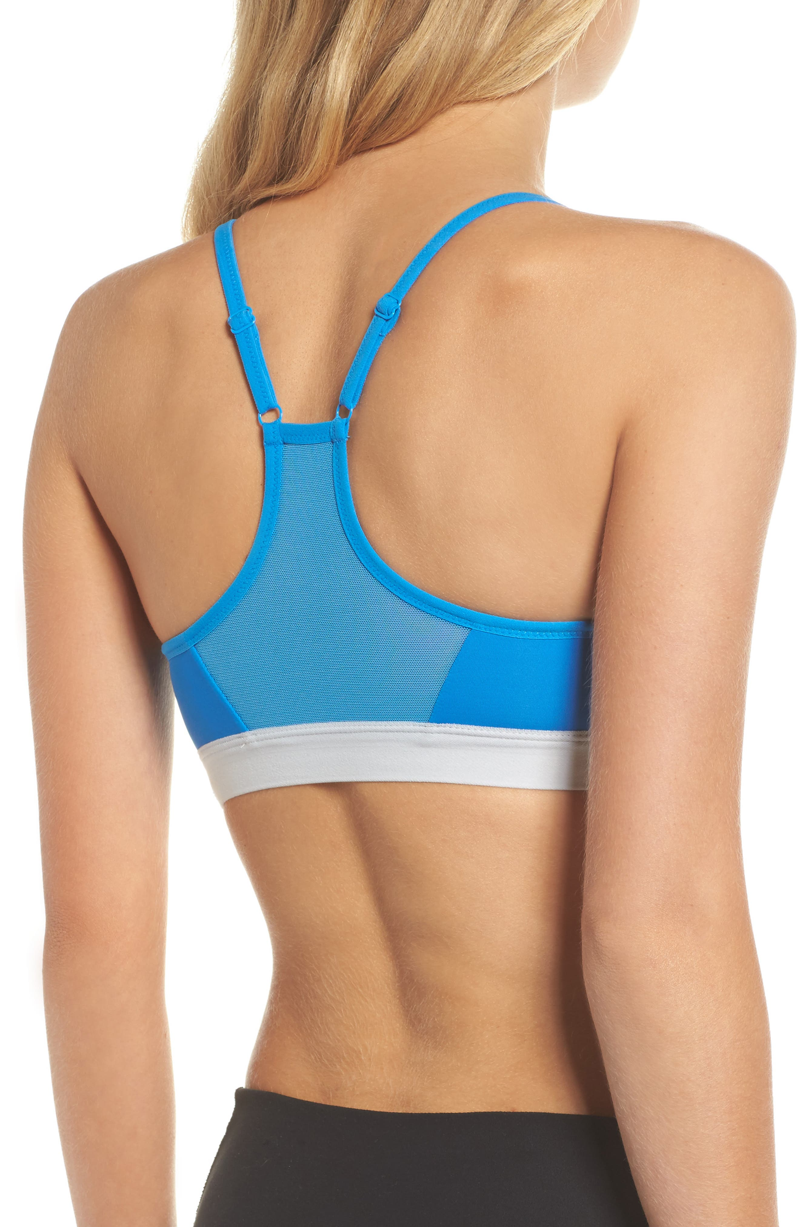 Pro Indy Dry Sports Bra,                             Alternate thumbnail 2, color,                             Lt Photo Blue/ Pure Platinum