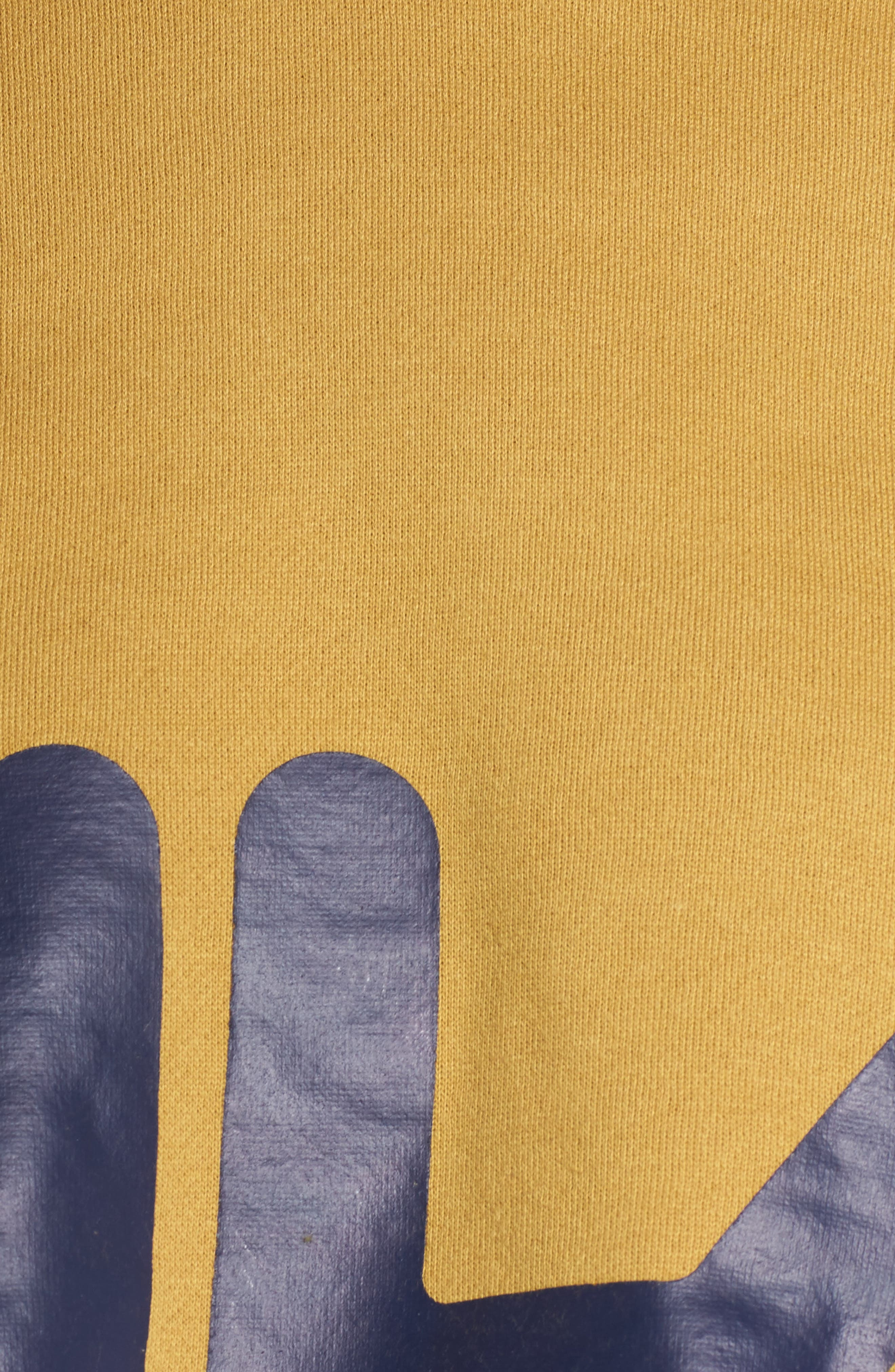 Pam Crop Hoodie,                             Alternate thumbnail 6, color,                             Mustard Gold/ Navy/ White
