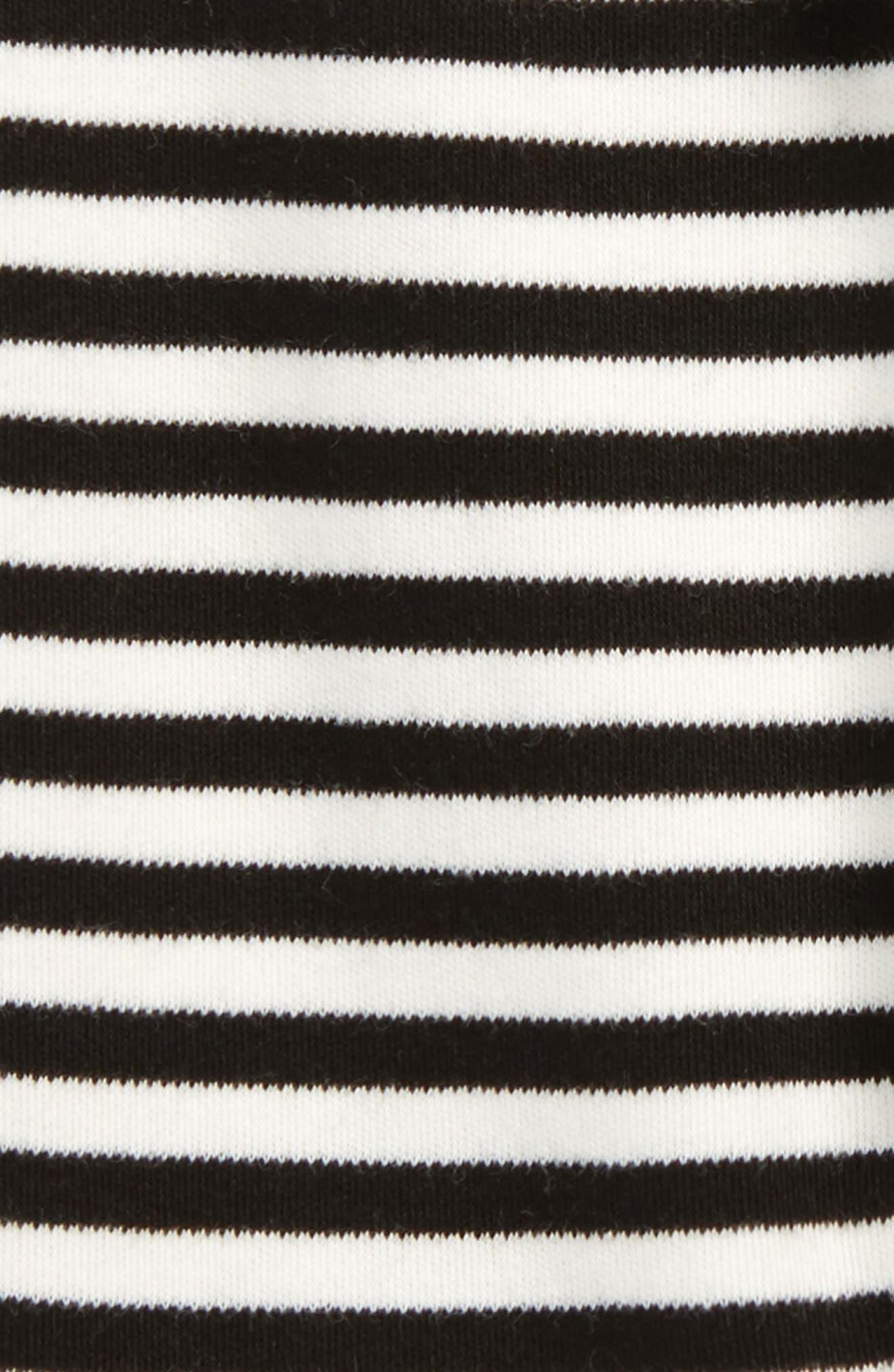 Stripe Organic Cotton Jogger Pants,                             Alternate thumbnail 2, color,                             Black/ Off White