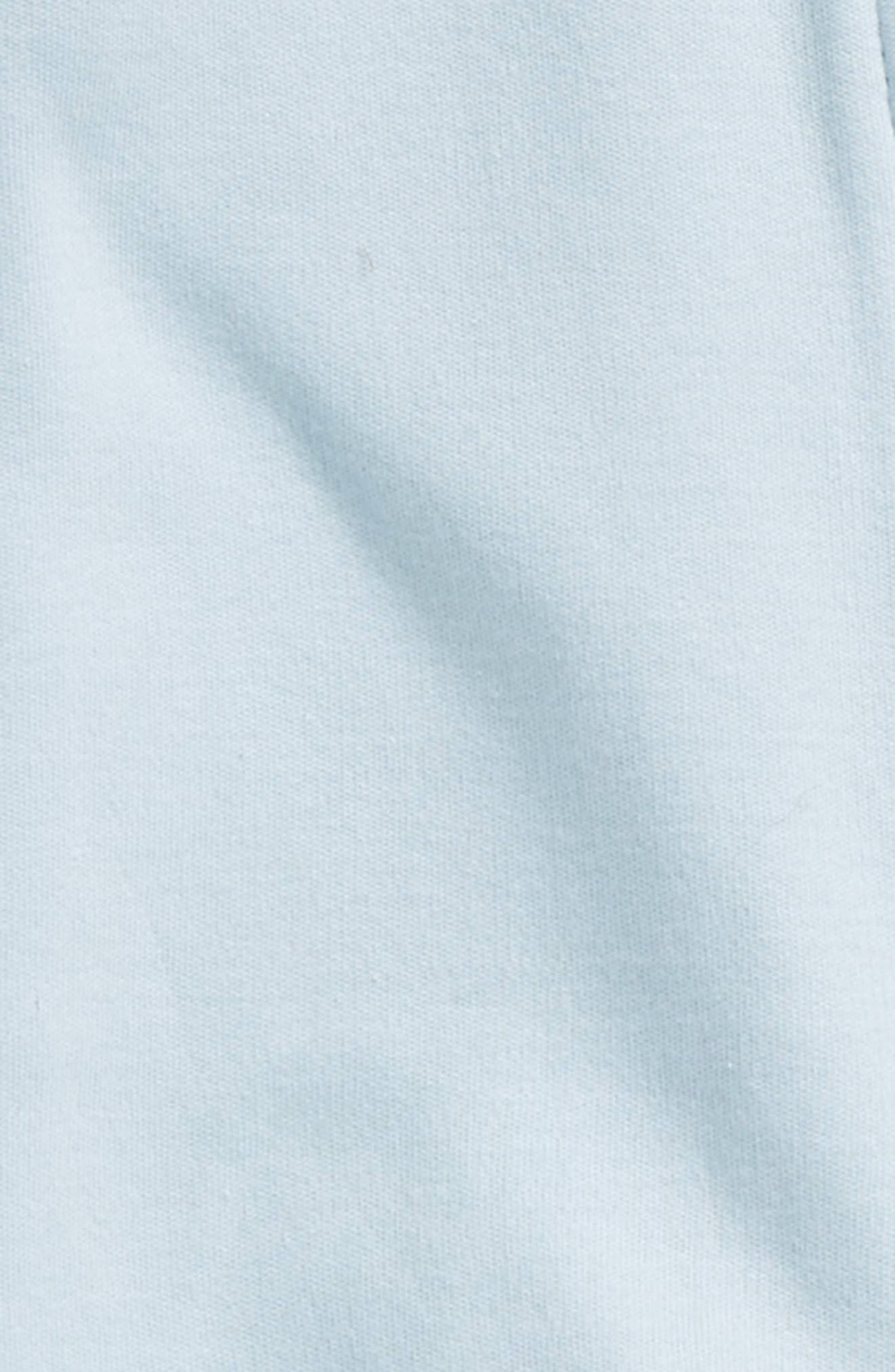 Organic Cotton Romper,                             Alternate thumbnail 2, color,                             Soft Blue