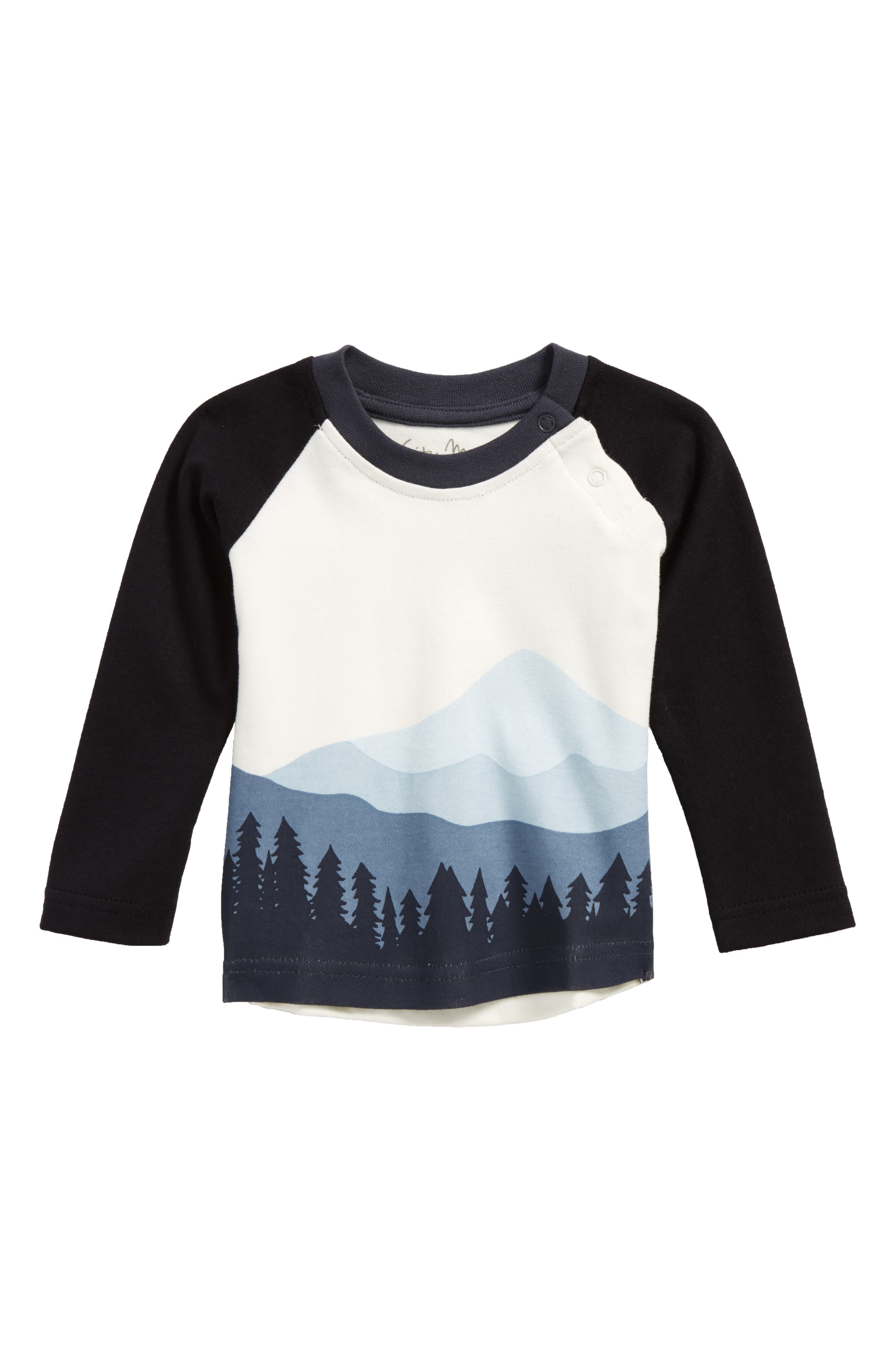 Mountain Graphic Organic Cotton T-Shirt,                         Main,                         color, Blue/ Off White