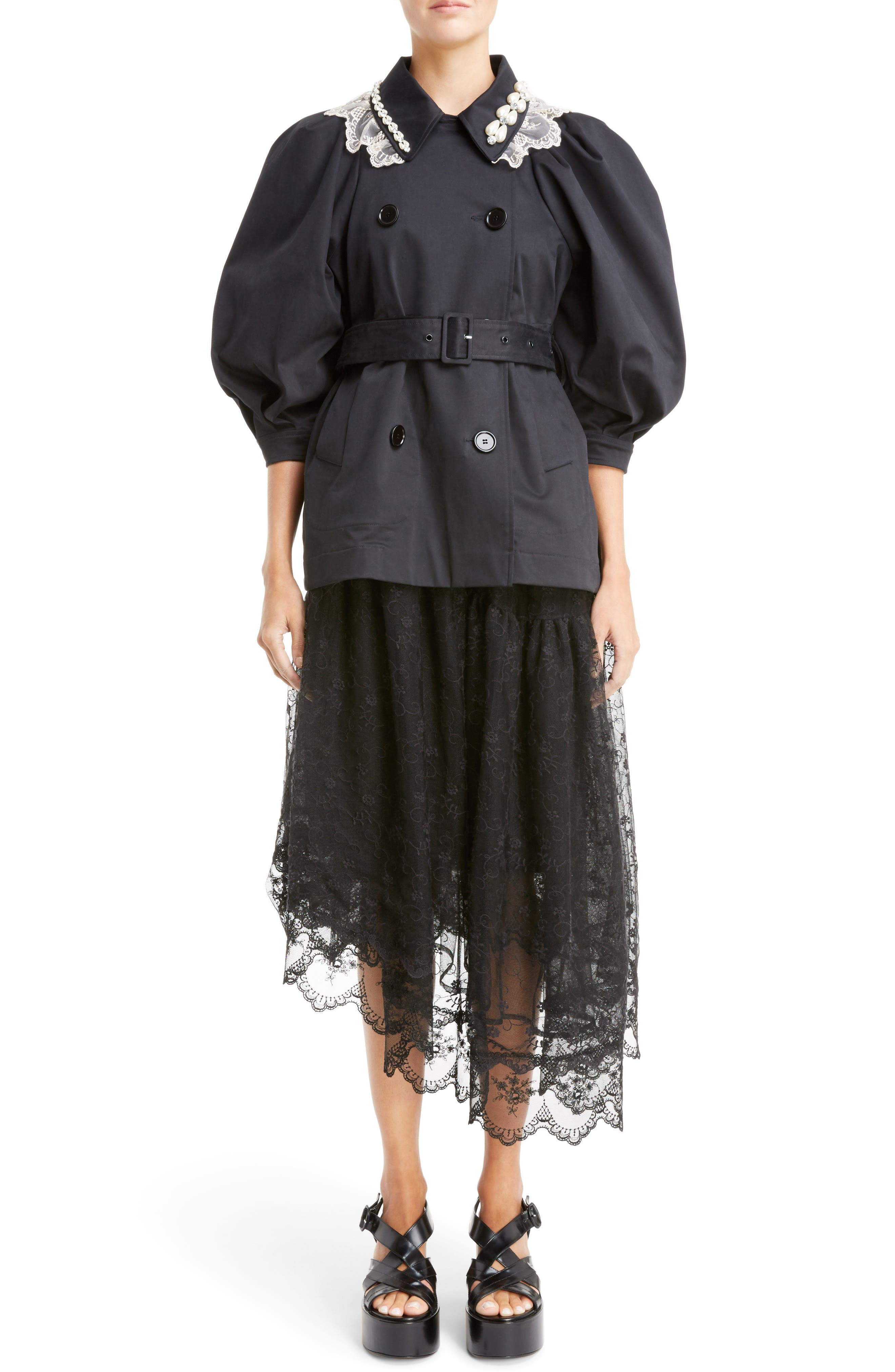 Alternate Image 2  - Simone Rocha Asymmetrical Embroidered Tulle Dress