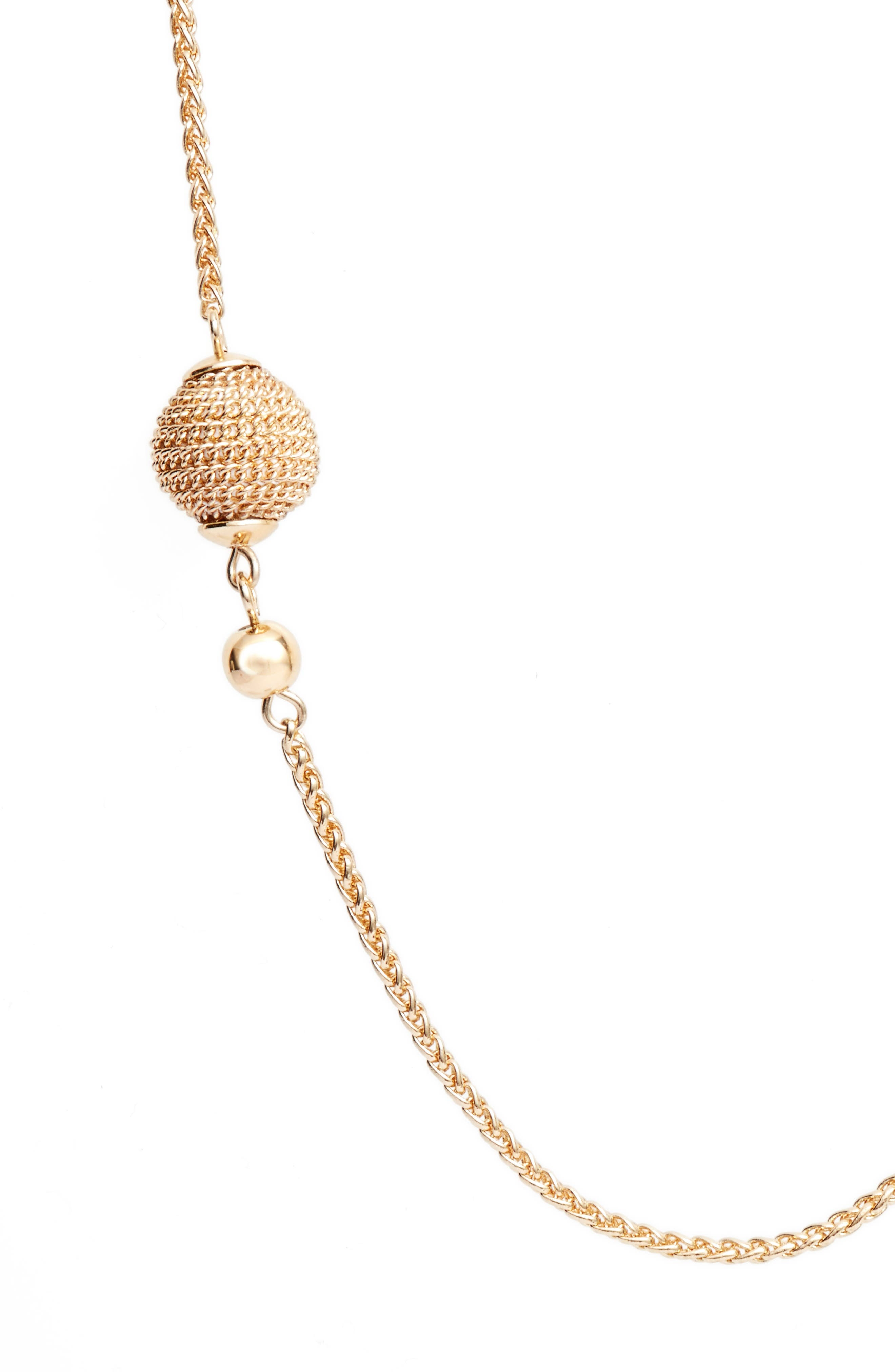 Chain Wrap Station Necklace,                             Alternate thumbnail 2, color,                             Gold