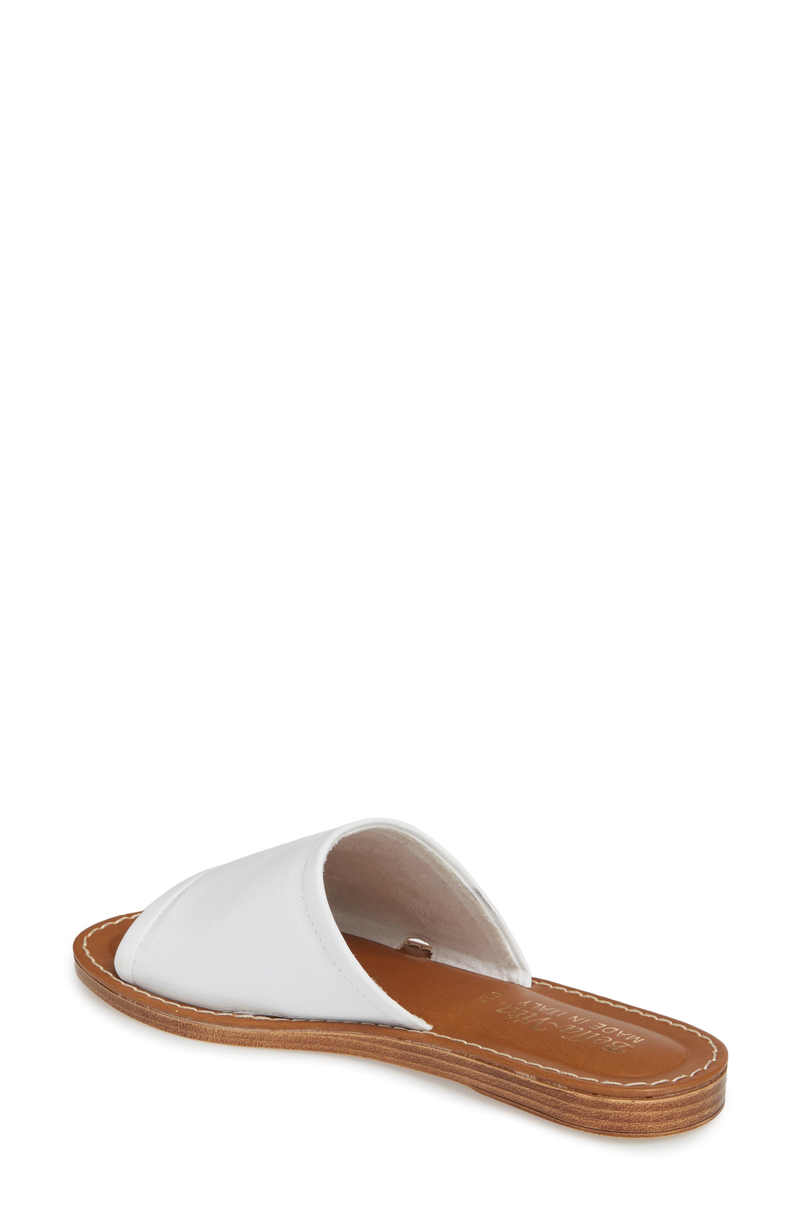 Ros Slide Sandal,                             Alternate thumbnail 2, color,                             White Leather