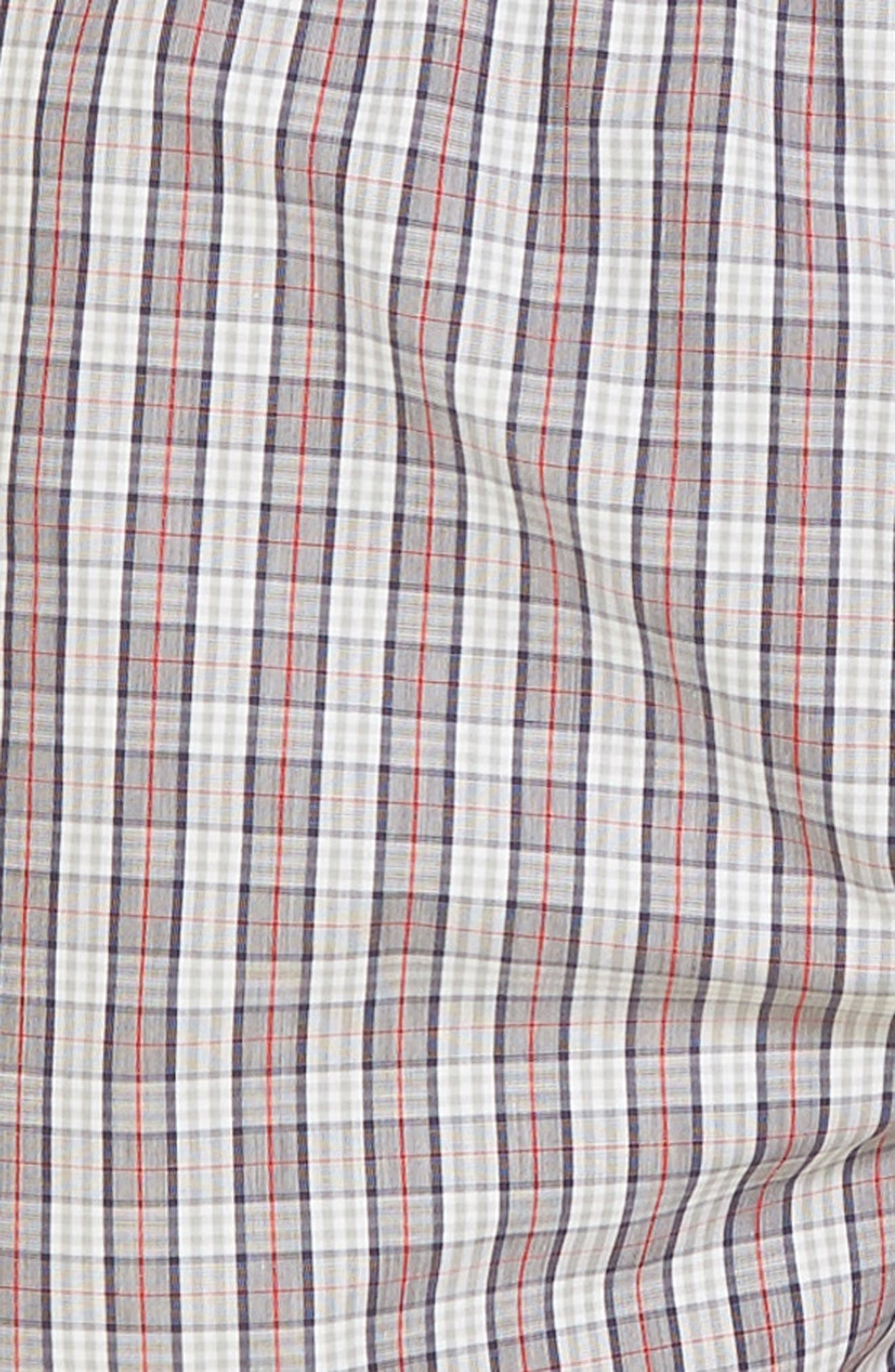 Fancy Cotton Boxers,                             Alternate thumbnail 4, color,                             Red Karo