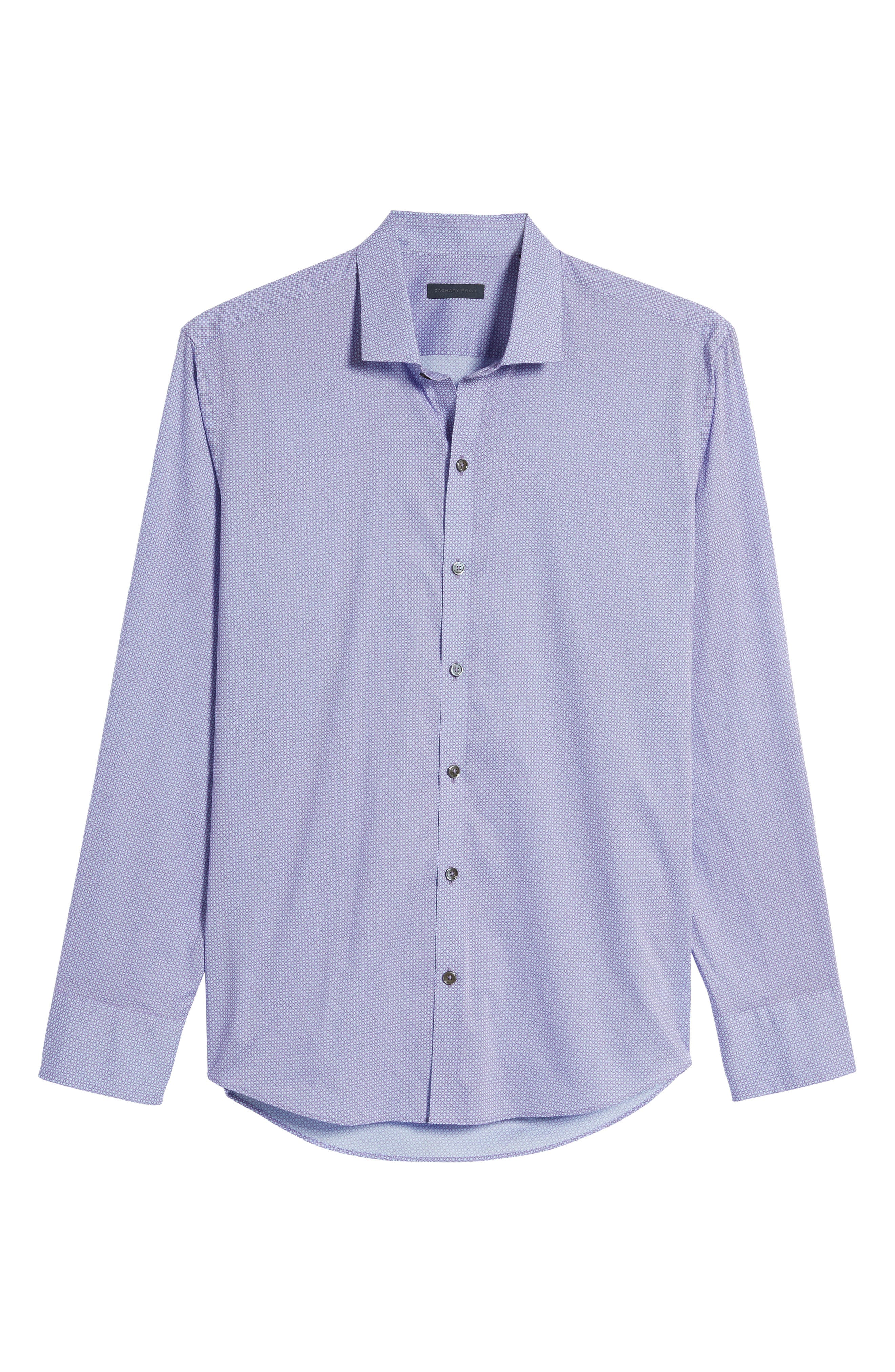 O'Malley Circle Print Sport Shirt,                             Alternate thumbnail 6, color,                             Purple