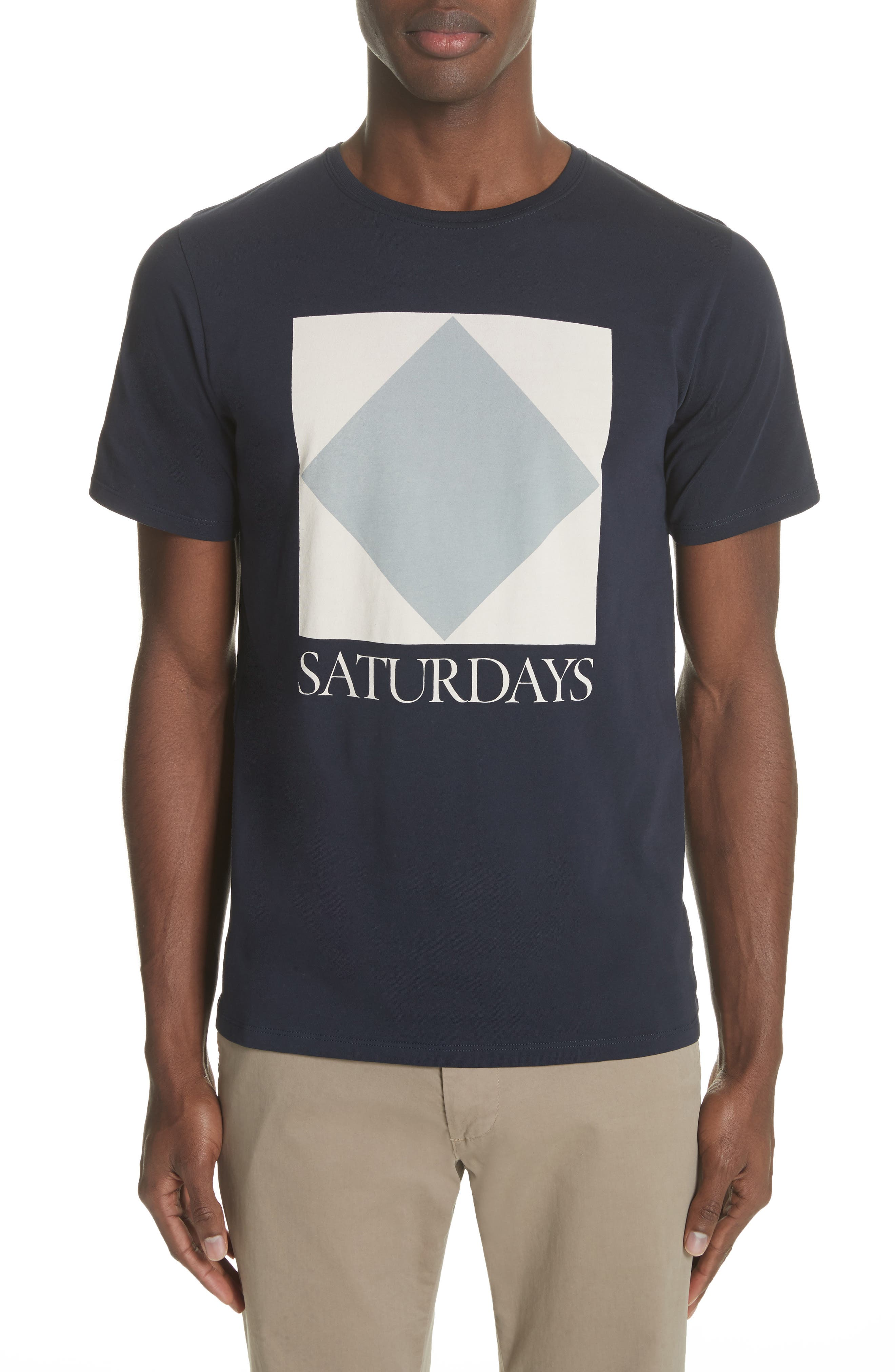 Diamond Graphic T-Shirt,                             Main thumbnail 1, color,                             Midnight