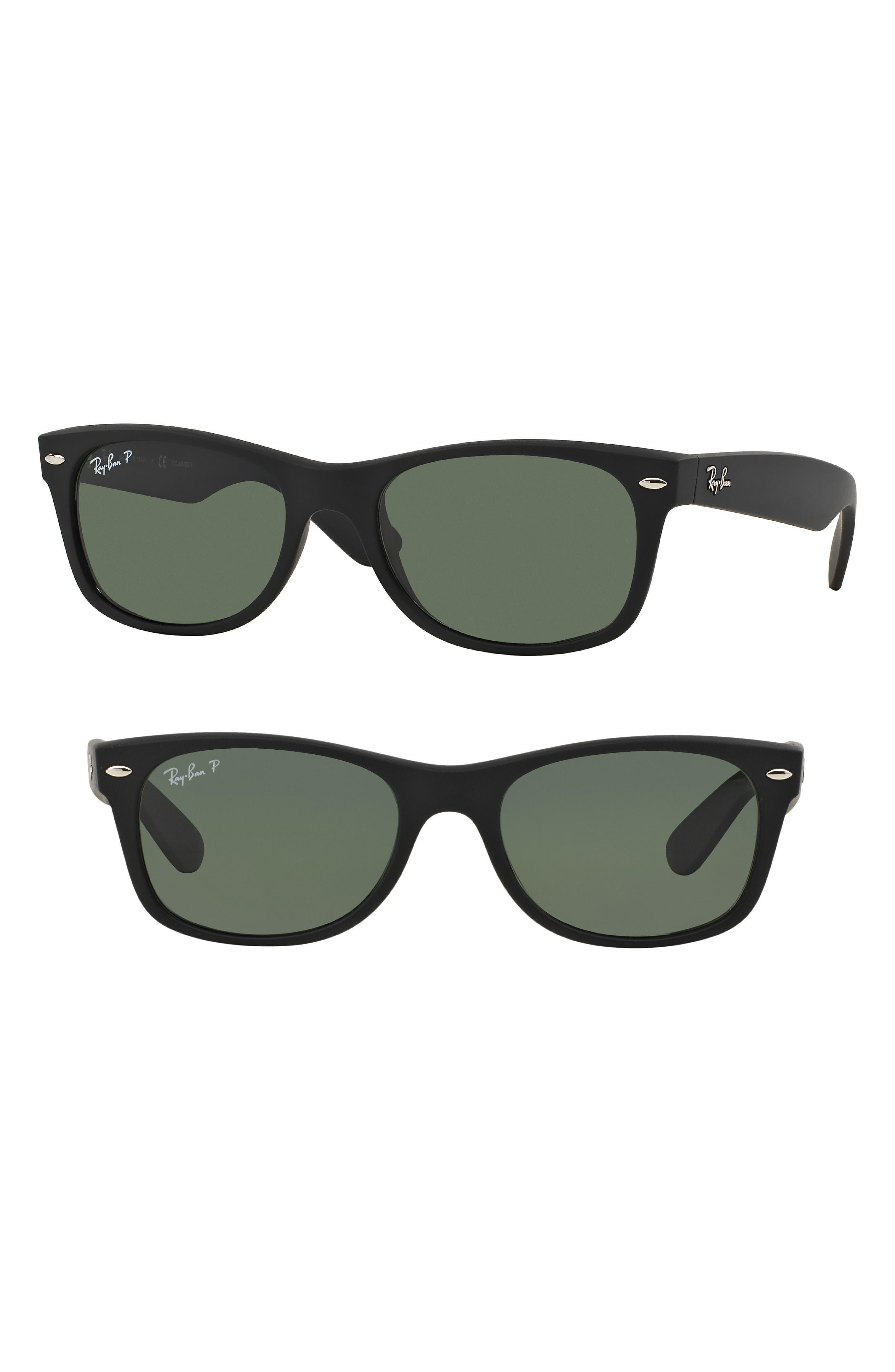 Ray-Ban Small New Wayfarer 52mm Polarized Sunglasses