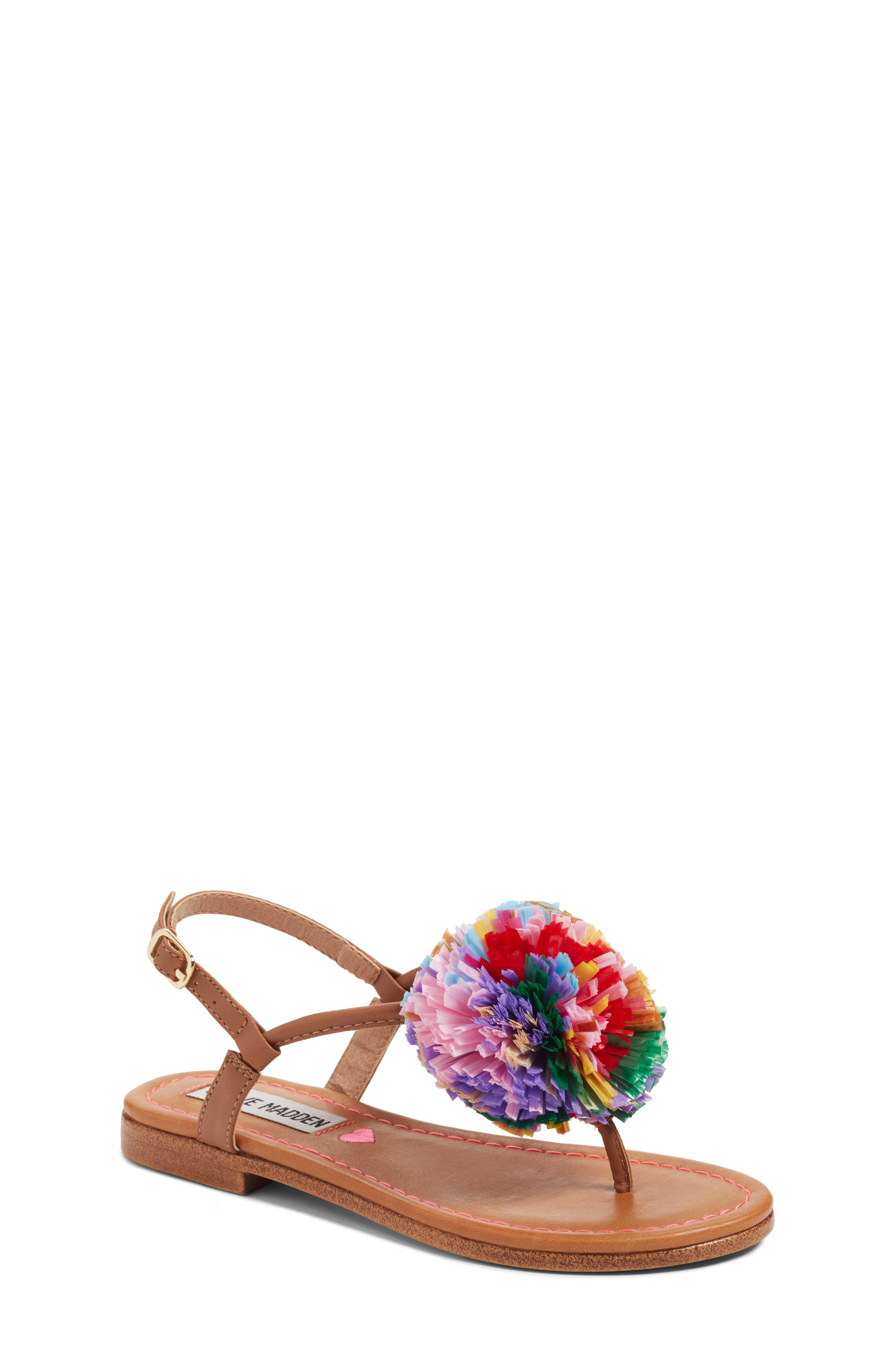 Steve Madden JCherry Pompom Sandal (Little Kid & Big Kid)