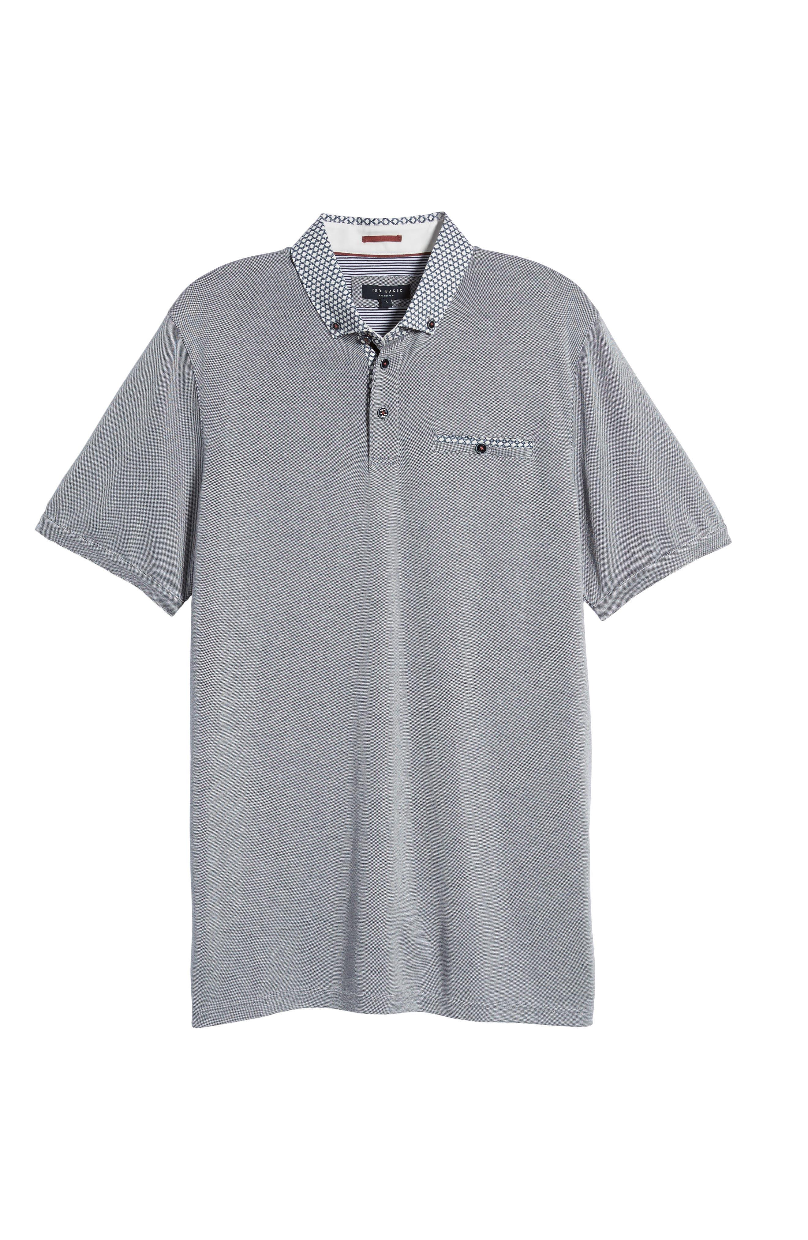 Tizu Trim Fit Polo Shirt,                             Alternate thumbnail 6, color,                             Navy