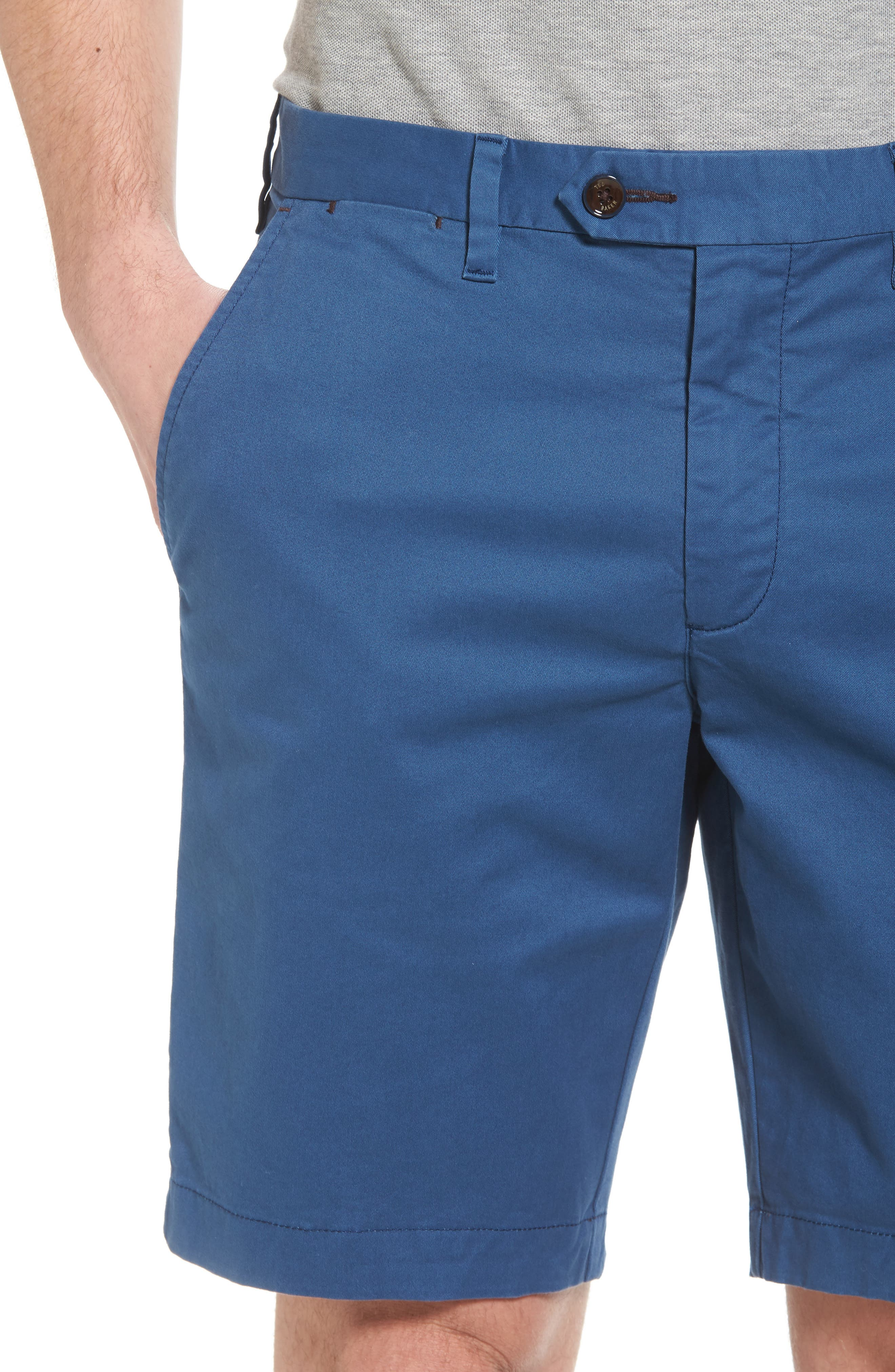 Proshor Slim Fit Chino Shorts,                             Alternate thumbnail 6, color,                             Dark Blue