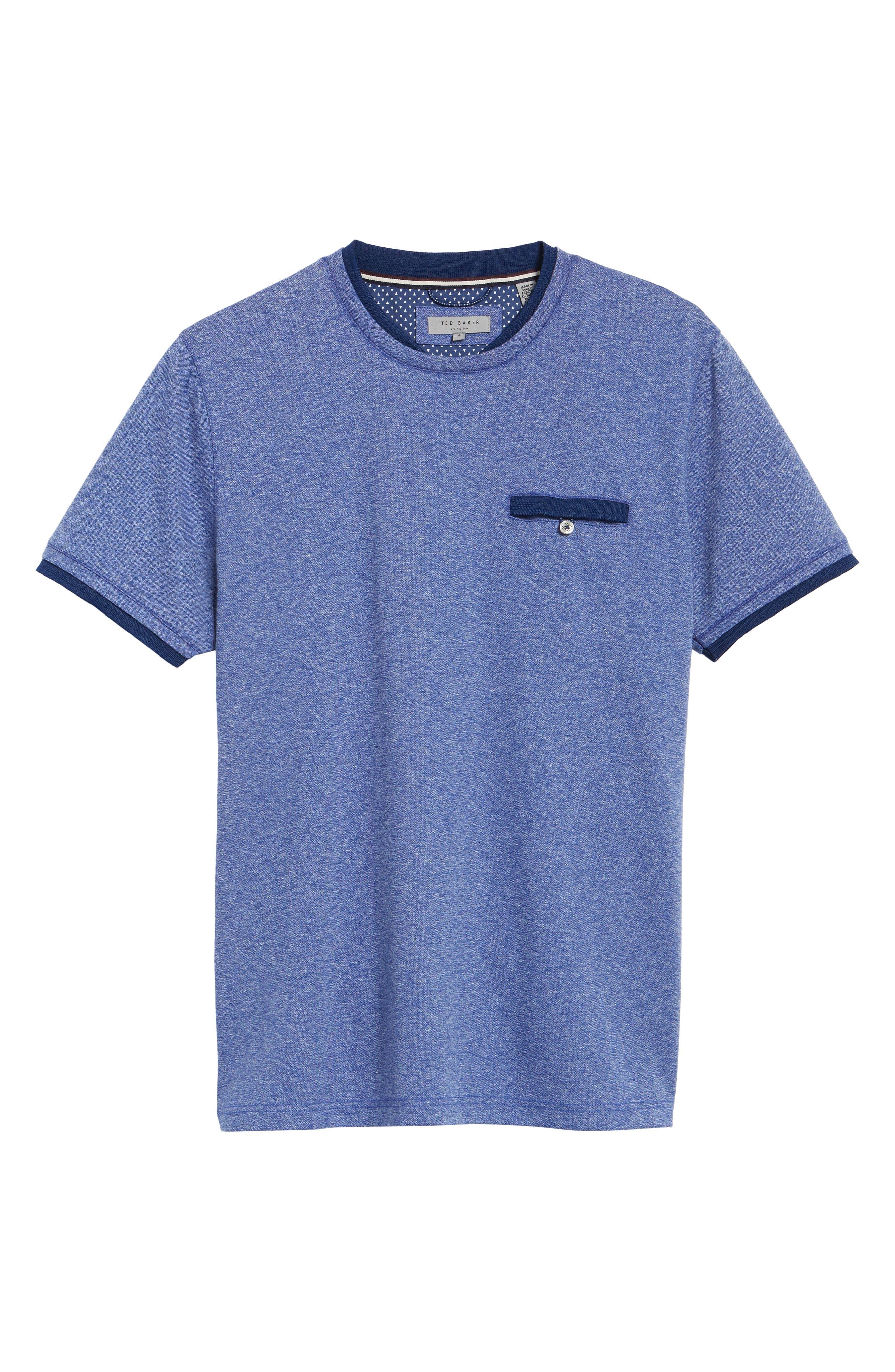 Alternate Image 6  - Ted Baker London Climb Mouline Layered Pocket T-Shirt