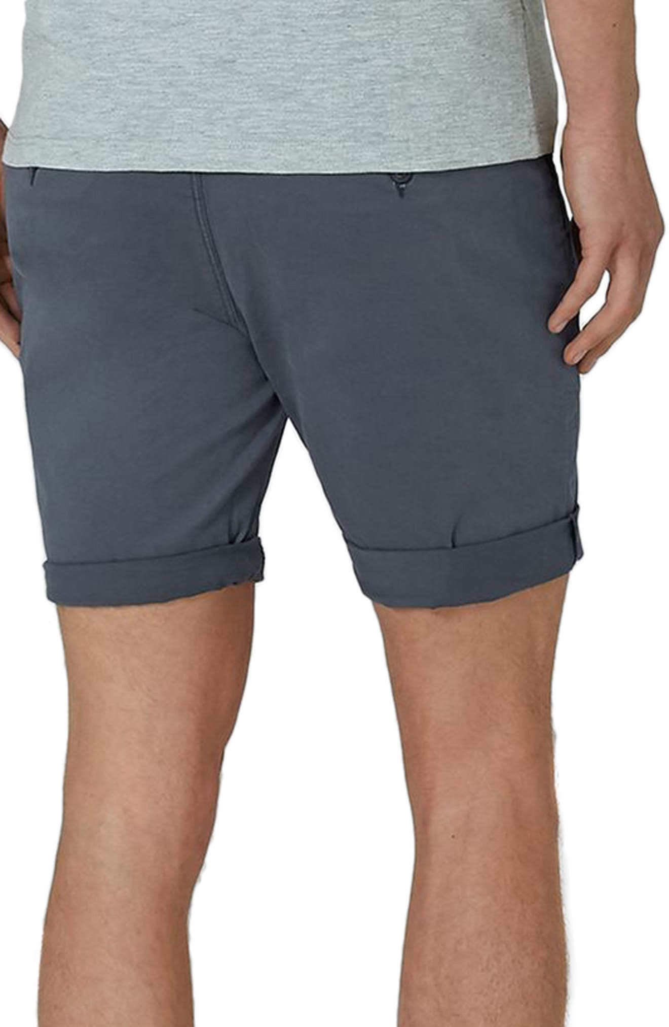 Stretch Skinny Chino Shorts,                             Alternate thumbnail 2, color,                             Dark Blue