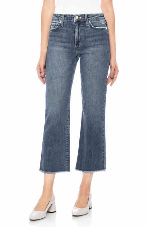 Joe's Wyatt Crop Wide Leg Jeans (Saxon)