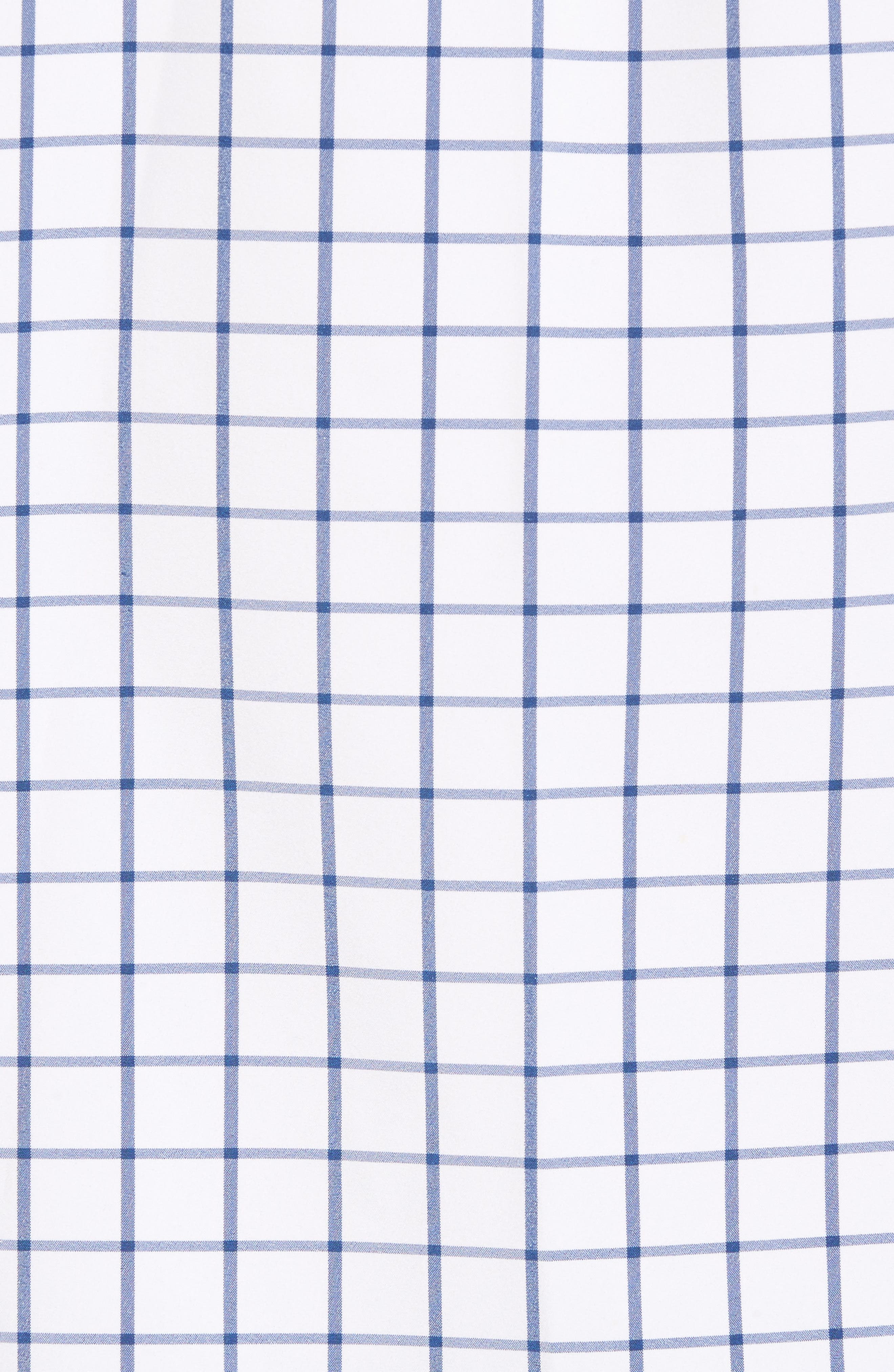 Bowie Windowpane Performance Sport Shirt,                             Alternate thumbnail 5, color,                             Navy