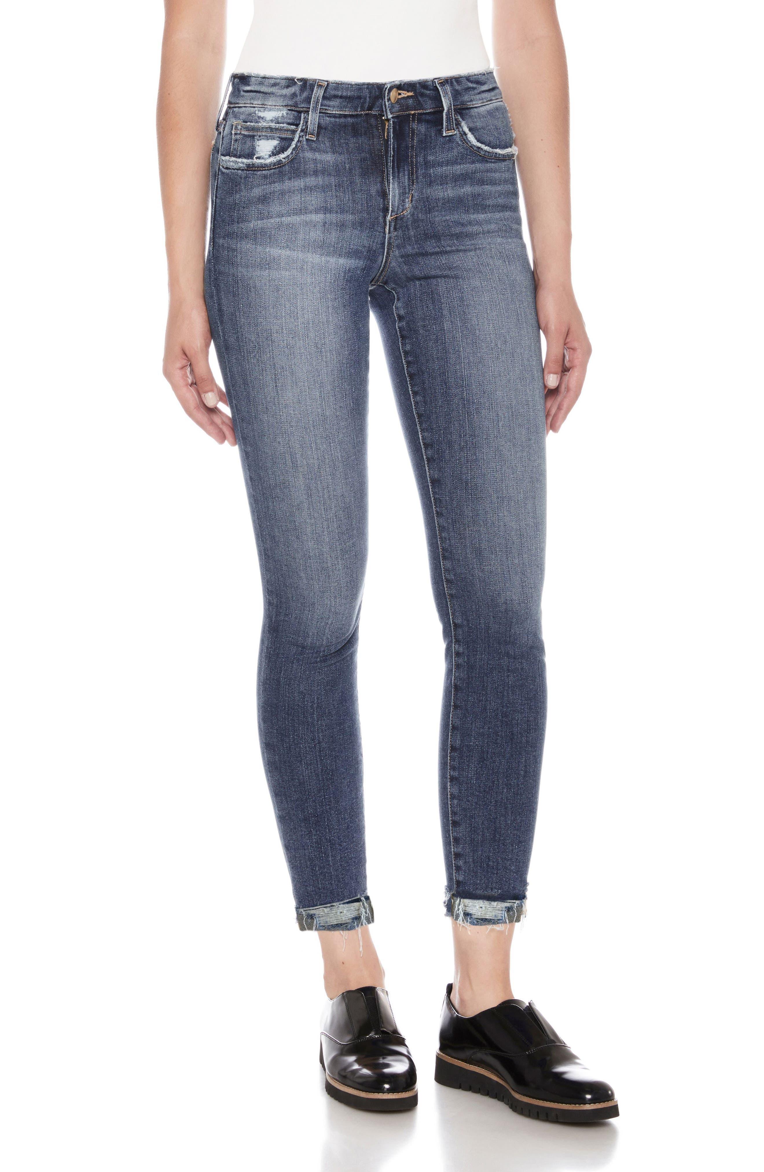 Flawless - Icon Crop Skinny Jeans,                             Main thumbnail 1, color,                             Aisha