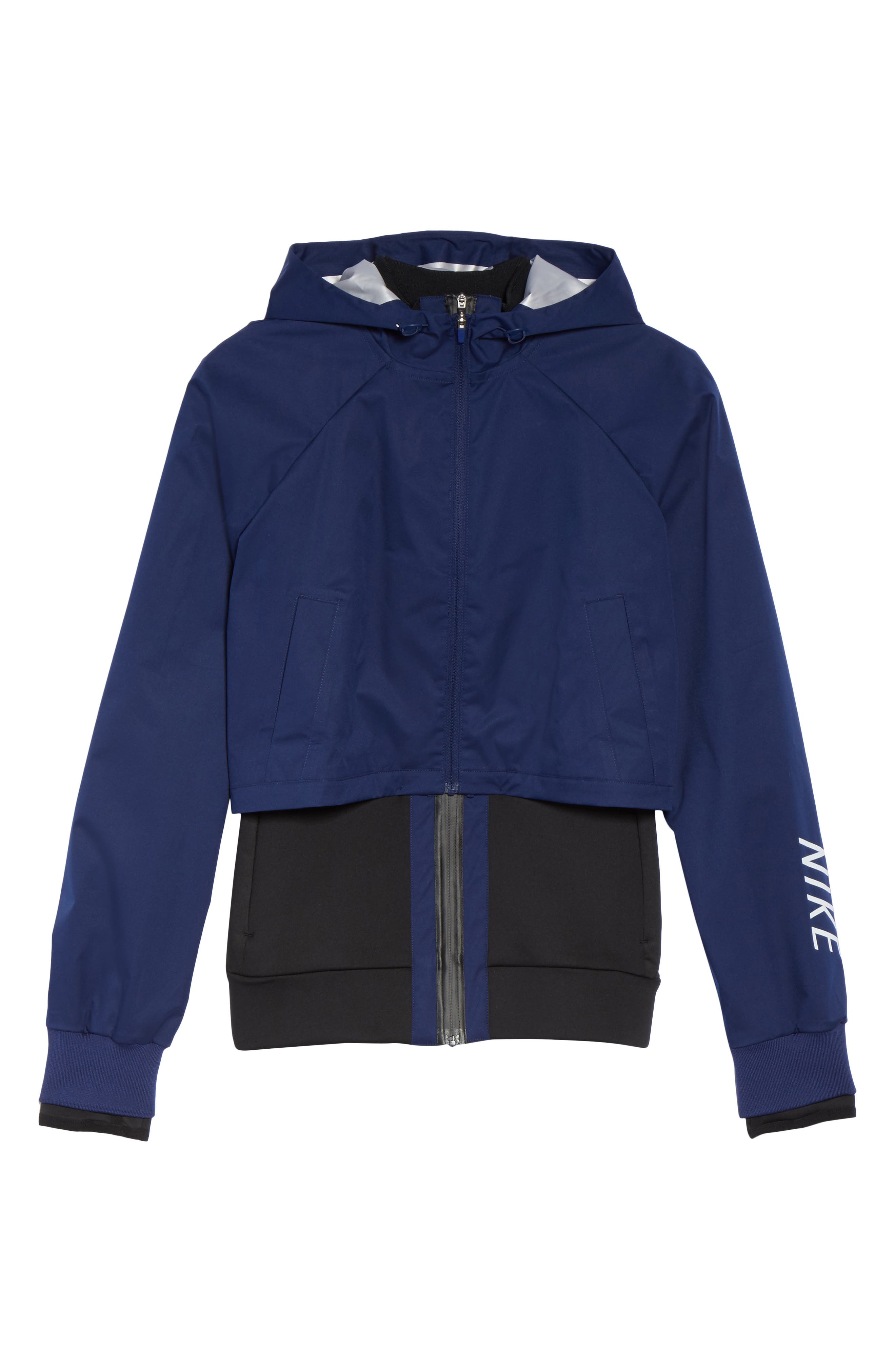Therma Shield 2-in-1 Training Jacket,                             Alternate thumbnail 6, color,                             Binary Blue/ Black/ White