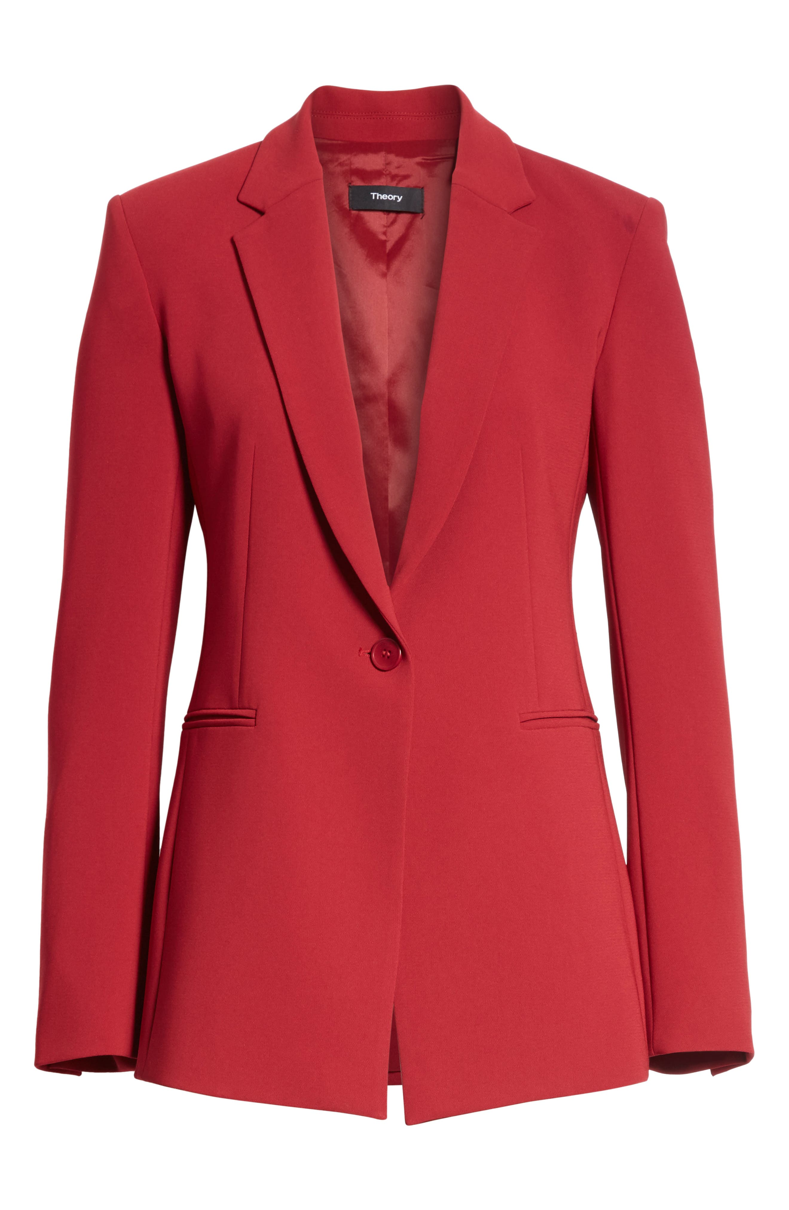 Admiral Crepe Power Jacket,                             Alternate thumbnail 6, color,                             Bright Raspberry
