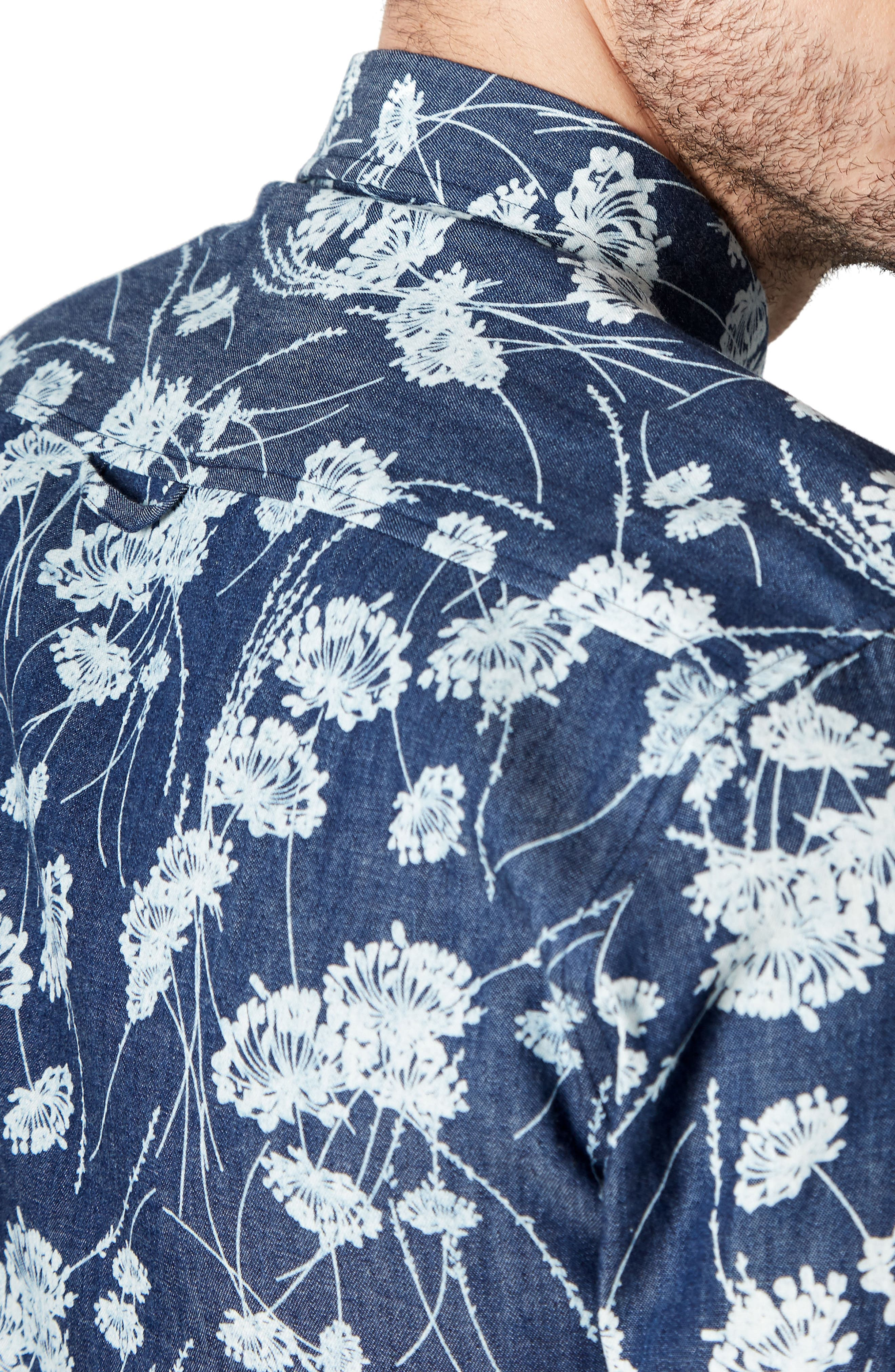 Twist of Faith Woven Shirt,                             Alternate thumbnail 4, color,                             Blue