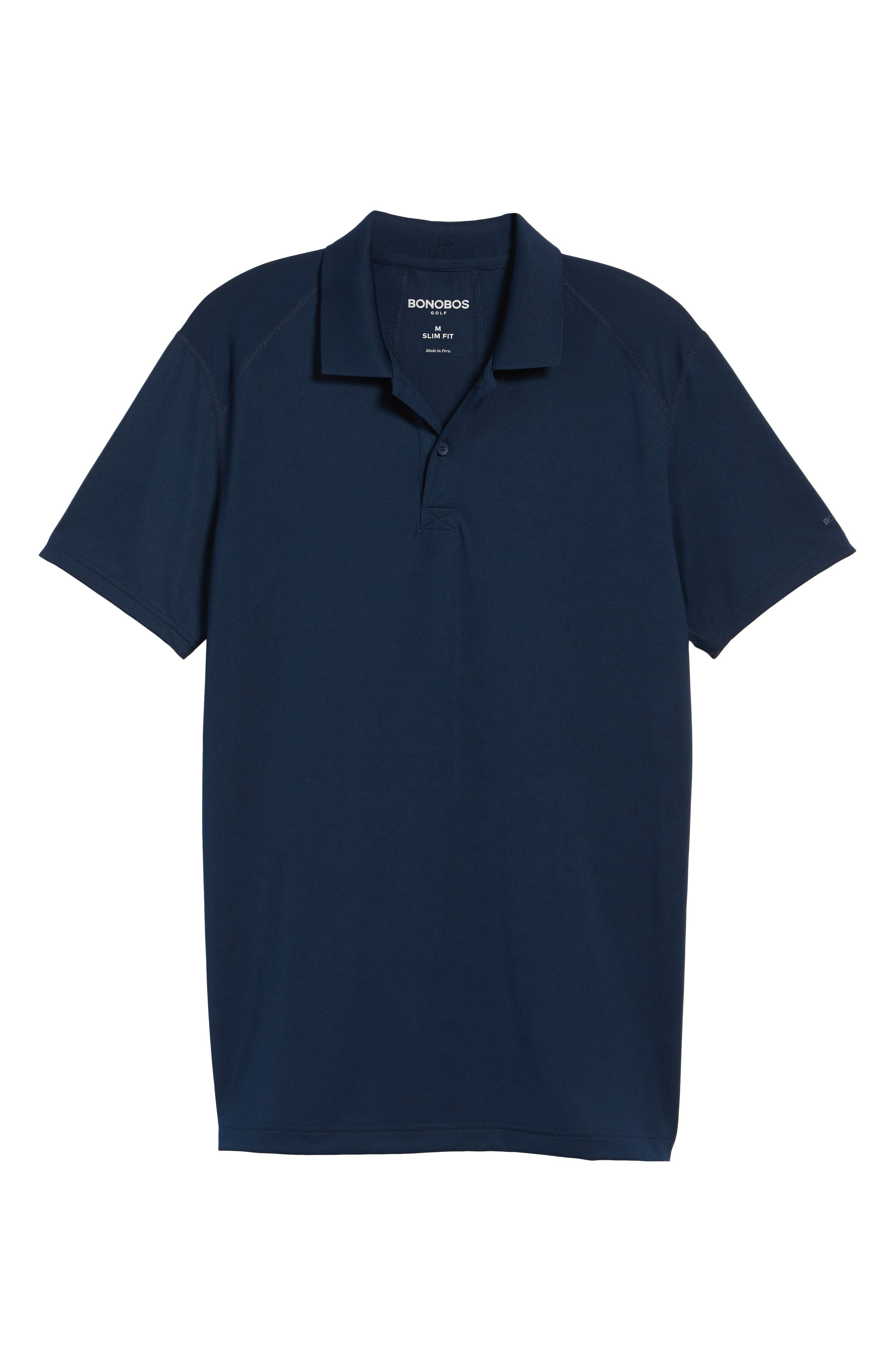 M-Flex Flatiron Slim Fit Golf Polo,                         Main,                         color, Navy
