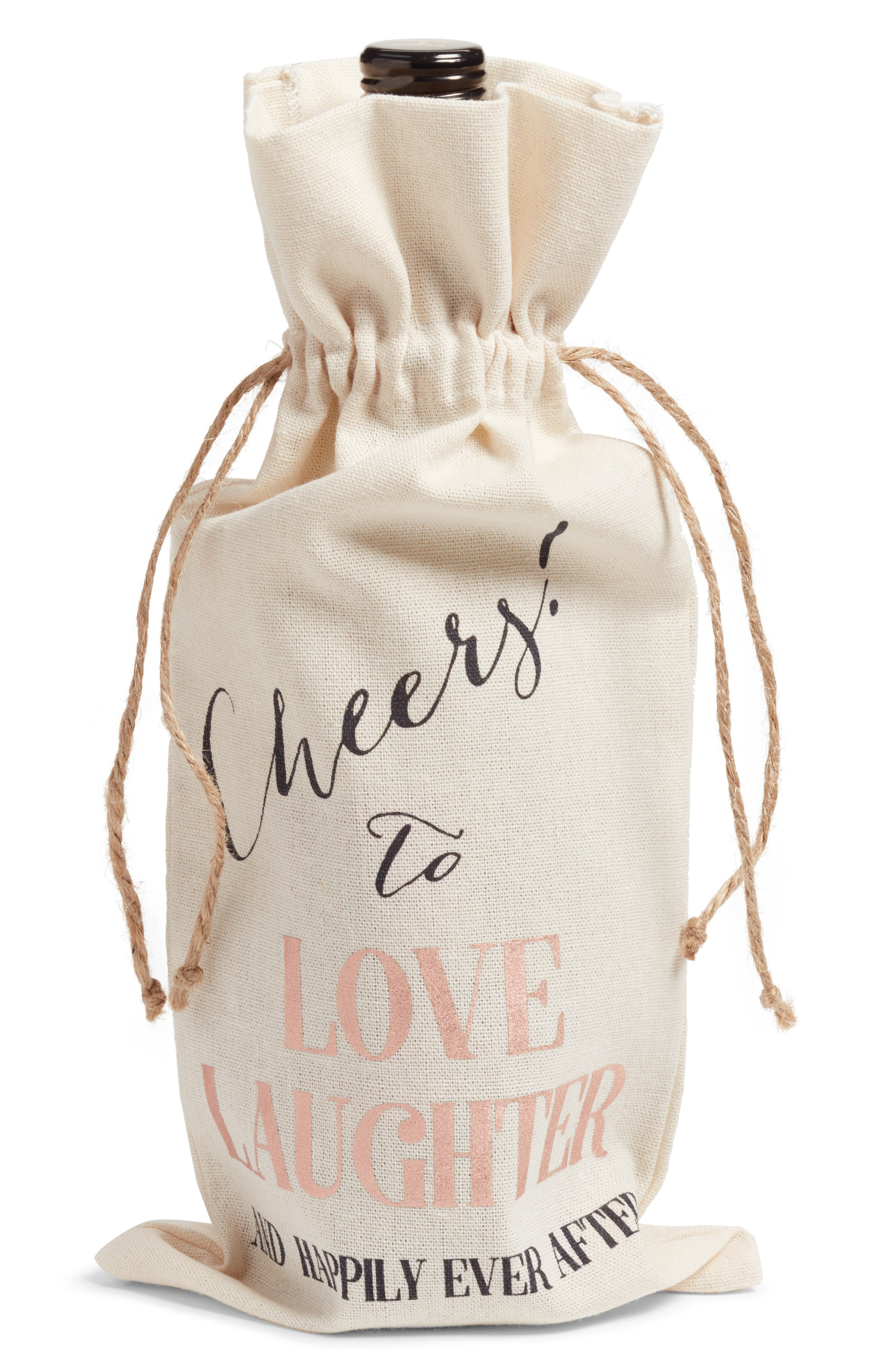 Cheers Wine Tote,                         Main,                         color, Ivory