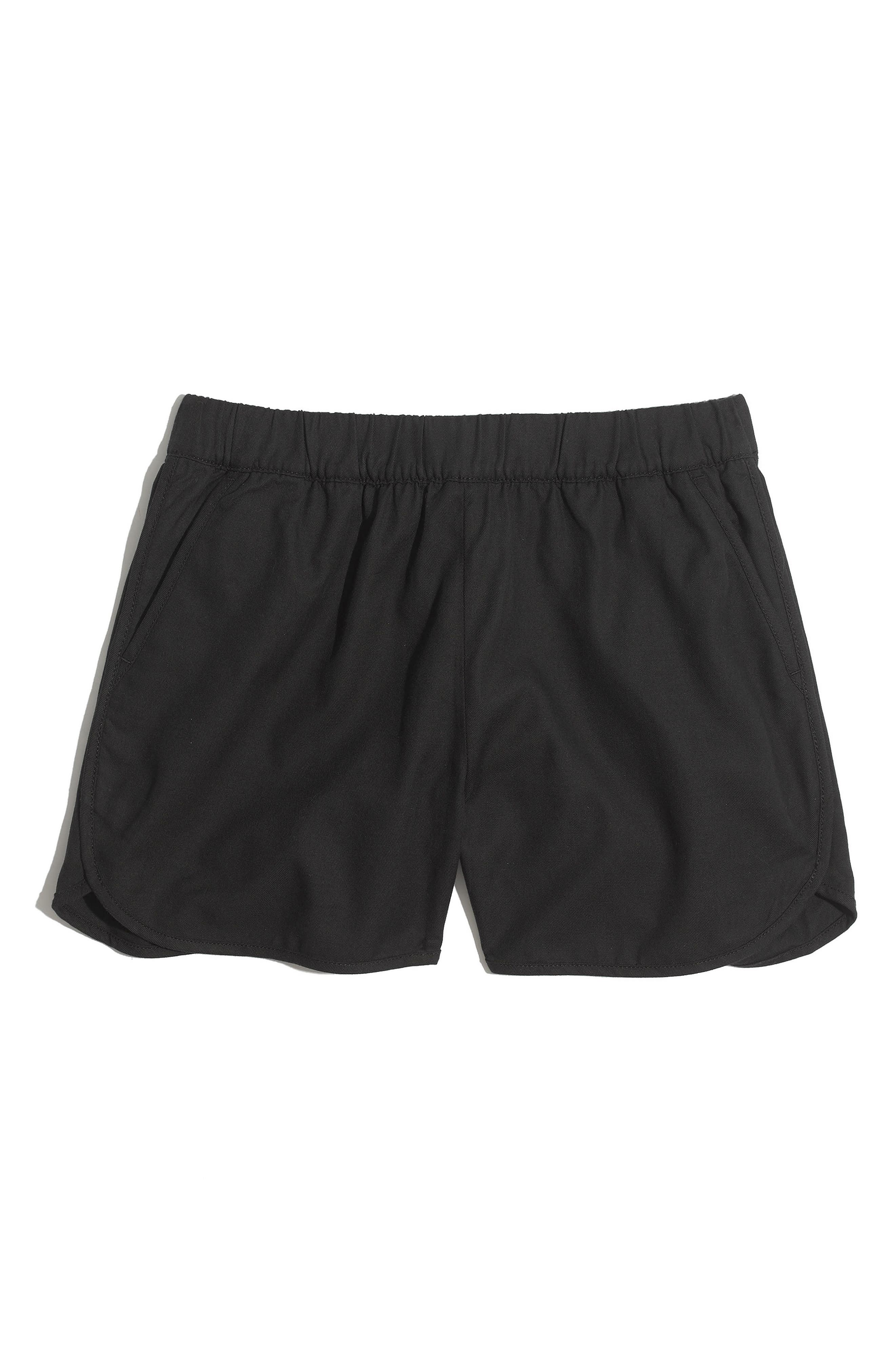 Pull-On Shorts,                             Alternate thumbnail 6, color,                             Almost Black