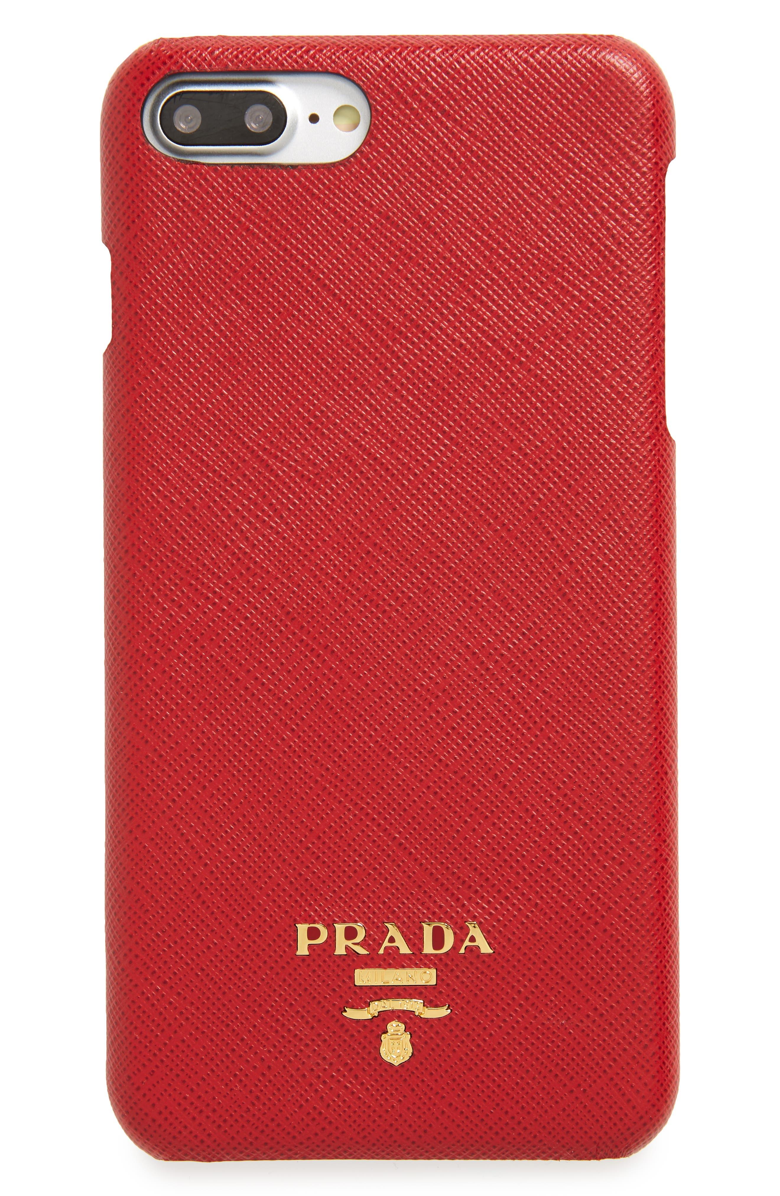 Prada Saffiano Metal Oro iPhone 7/8 Plus Case