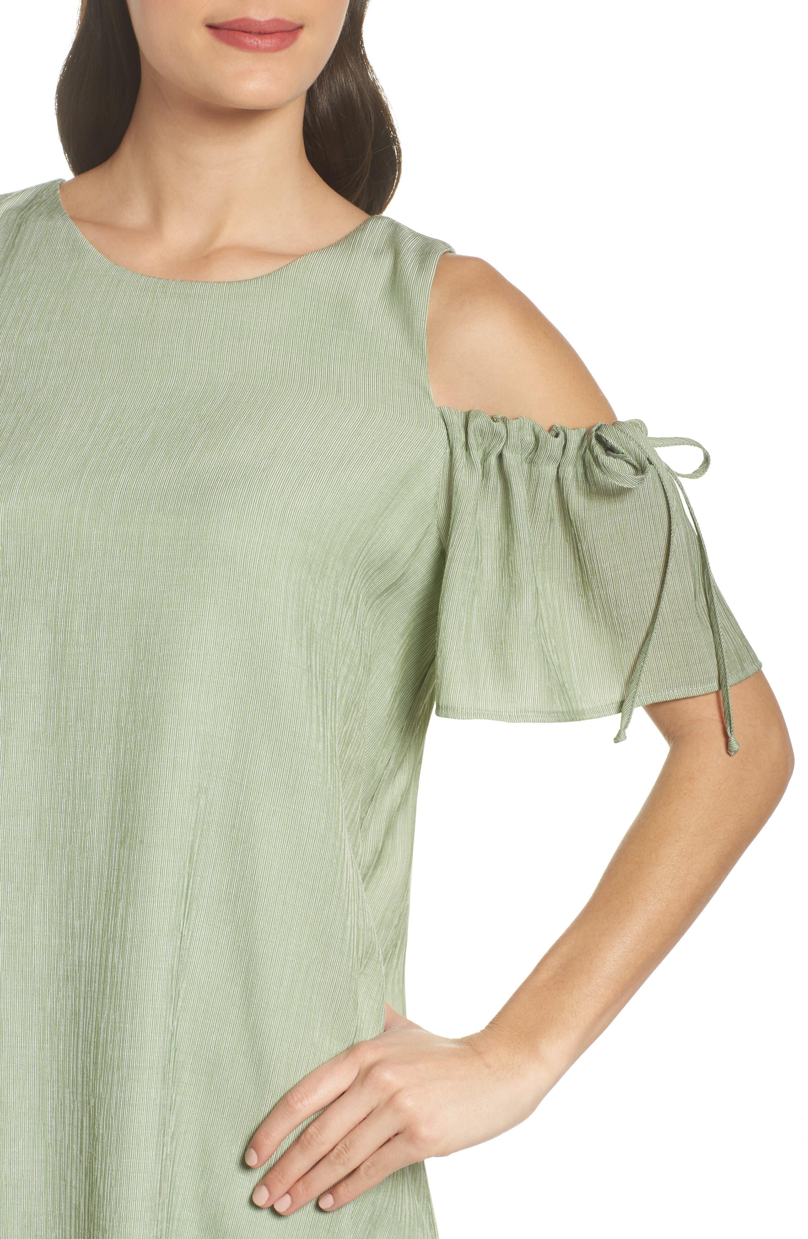 Alternate Image 4  - NSR Cold Shoulder Shift Dress