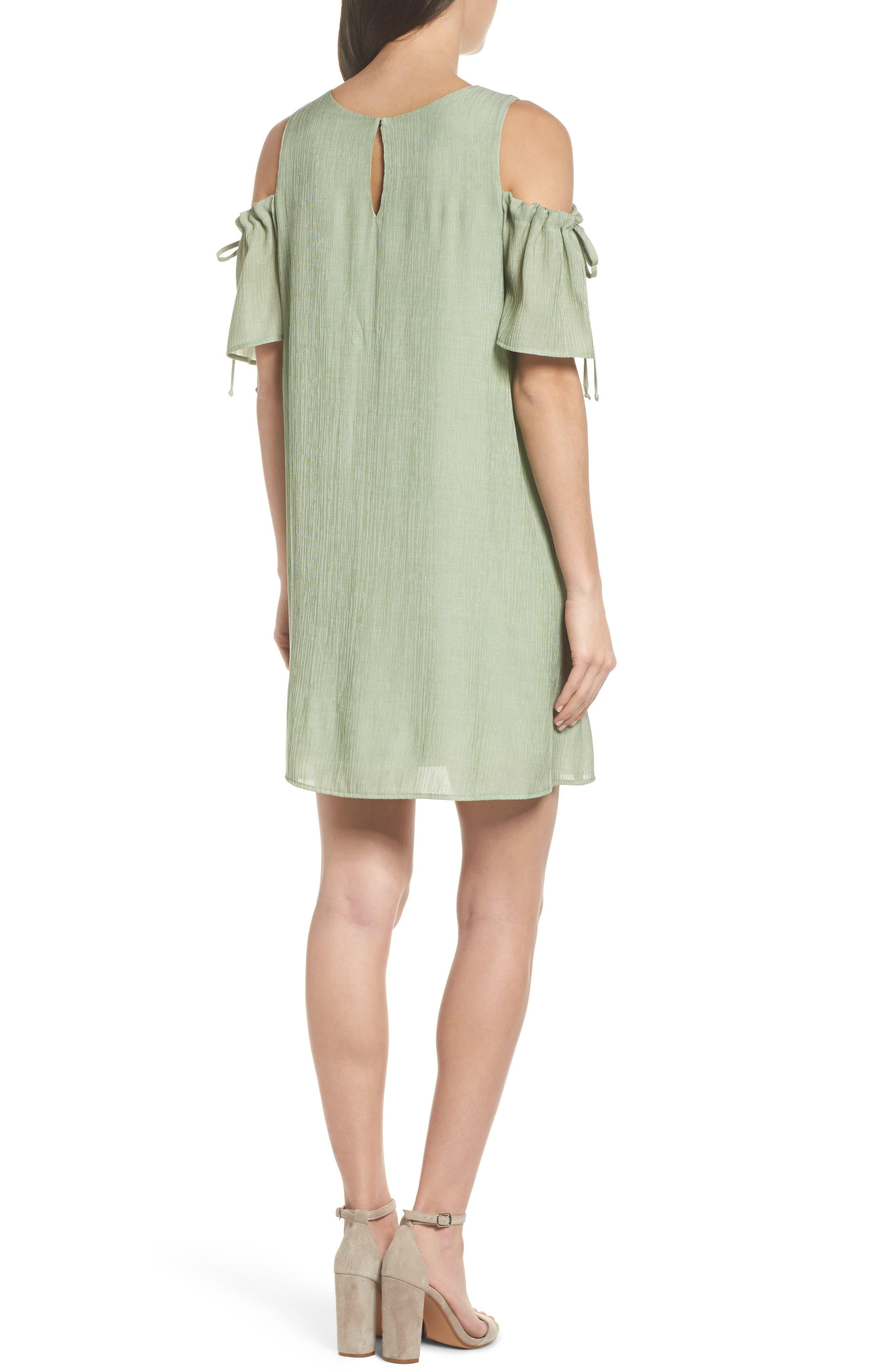 Alternate Image 2  - NSR Cold Shoulder Shift Dress