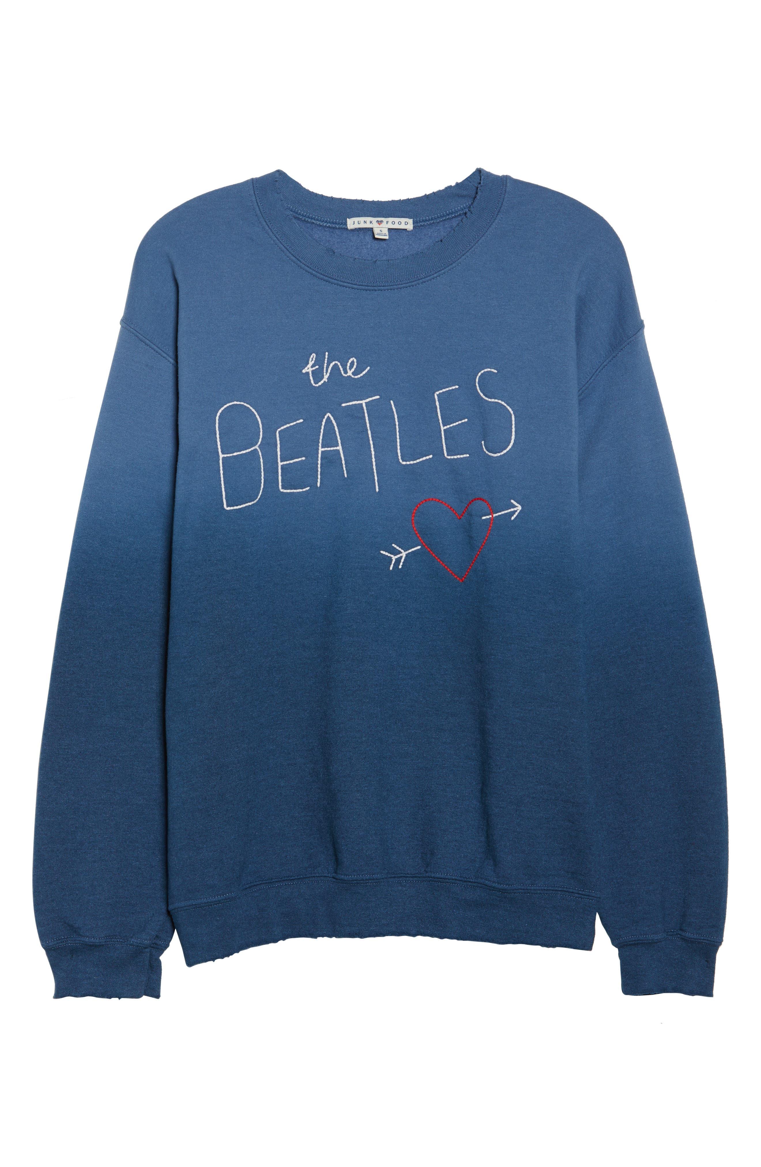 The Beatles Ombré Sweatshirt,                             Alternate thumbnail 4, color,                             True Navy